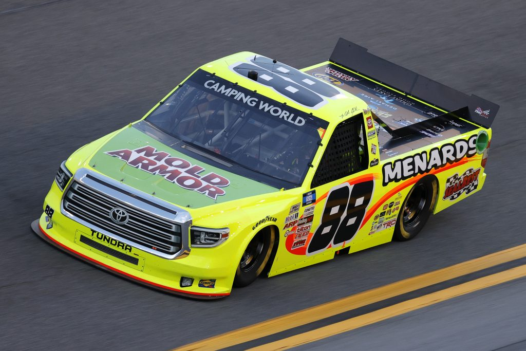 DAYTONA BEACH, FLORIDA - FEBRUARY 11: Matt Crafton, driver of the #88 Mold-Armor/Menards Toyota, practices for the NASCAR Camping World Truck Series NextEra Energy 250 at Daytona International Speedway on February 11, 2021 in Daytona Beach, Florida. (Photo by Jared C. Tilton/Getty Images) | Getty Images