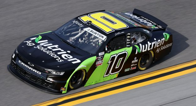 DAYTONA BEACH, FLORIDA - FEBRUARY 12: Jeb Burton, driver of the #10 Nutrien Ag Solutions Chevrolet, practices for the NASCAR Xfinity Series Beef. It's What's For Dinner. 300 at Daytona International Speedway on February 12, 2021 in Daytona Beach, Florida. (Photo by James Gilbert/Getty Images) | Getty Images