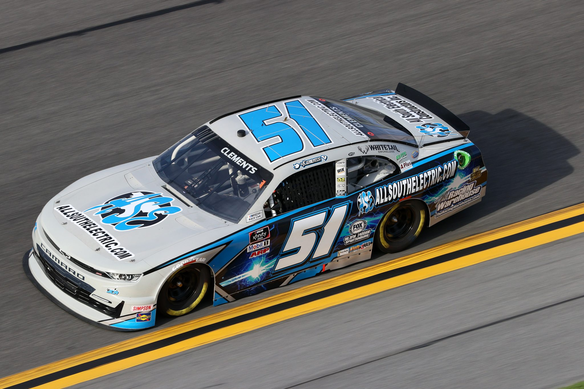 DAYTONA BEACH, FLORIDA - FEBRUARY 12: Jeremy Clements, driver of the #51 All South Electric Chevrolet, practices for the NASCAR Xfinity Series Beef. It's What's For Dinner. 300 at Daytona International Speedway on February 12, 2021 in Daytona Beach, Florida. (Photo by James Gilbert/Getty Images) | Getty Images