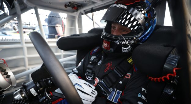 DAYTONA BEACH, FLORIDA - FEBRUARY 11: John Hunter Nemechek, driver of the #4 Fire Alarm Services Toyota, sits in his truck during practice for the NASCAR Camping World Truck Series NextEra Energy 250 at Daytona International Speedway on February 11, 2021 in Daytona Beach, Florida. (Photo by Chris Graythen/Getty Images) | Getty Images