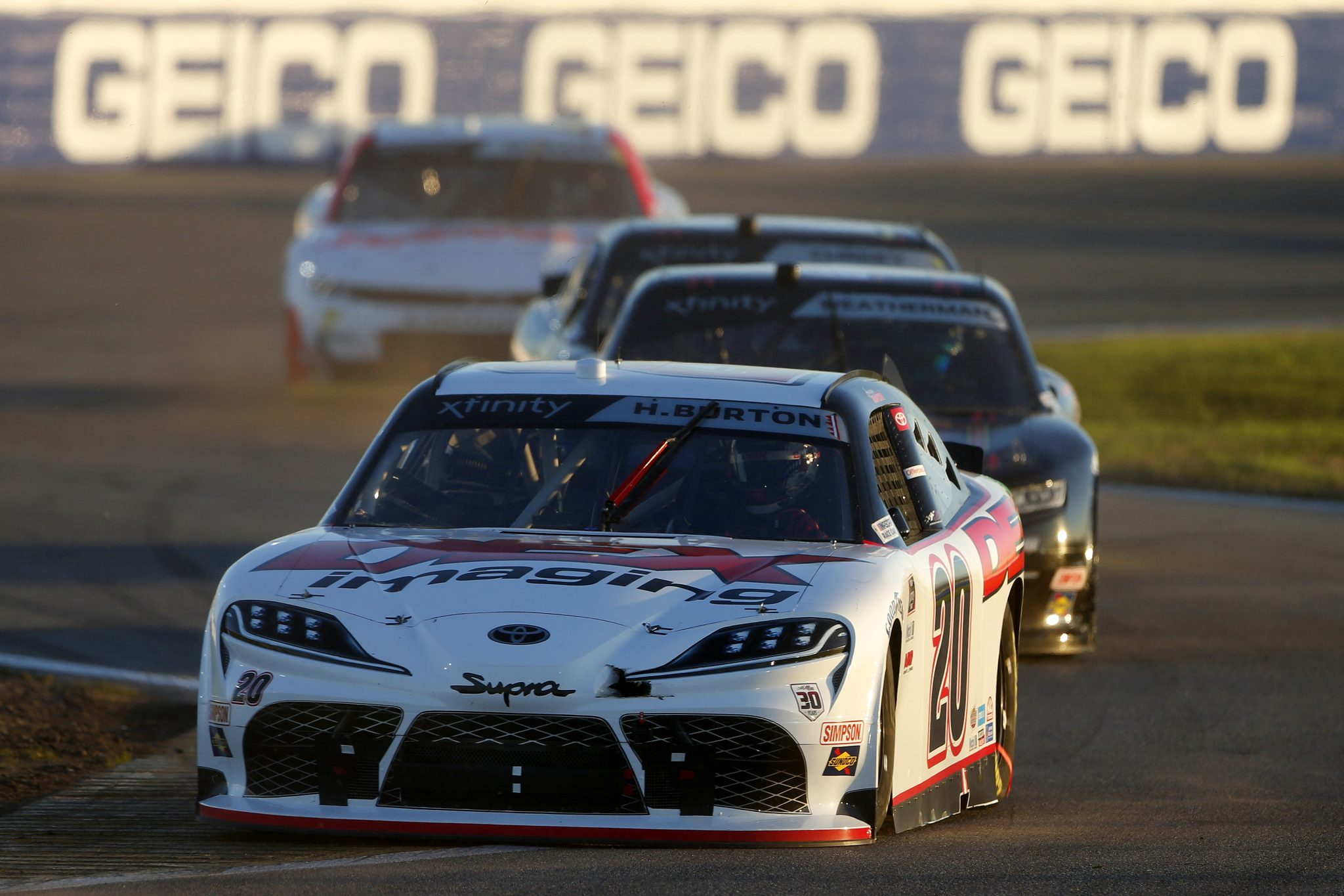 DAYTONA BEACH, FLORIDA - FEBRUARY 20: Harrison Burton, driver of the #20 DEX Imaging Toyota, drives during the NASCAR Xfinity Super Start Batteries 188 At Daytona Presented by O'Reilly at Daytona International Speedway on February 20, 2021 in Daytona Beach, Florida. (Photo by Brian Lawdermilk/Getty Images) | Getty Images