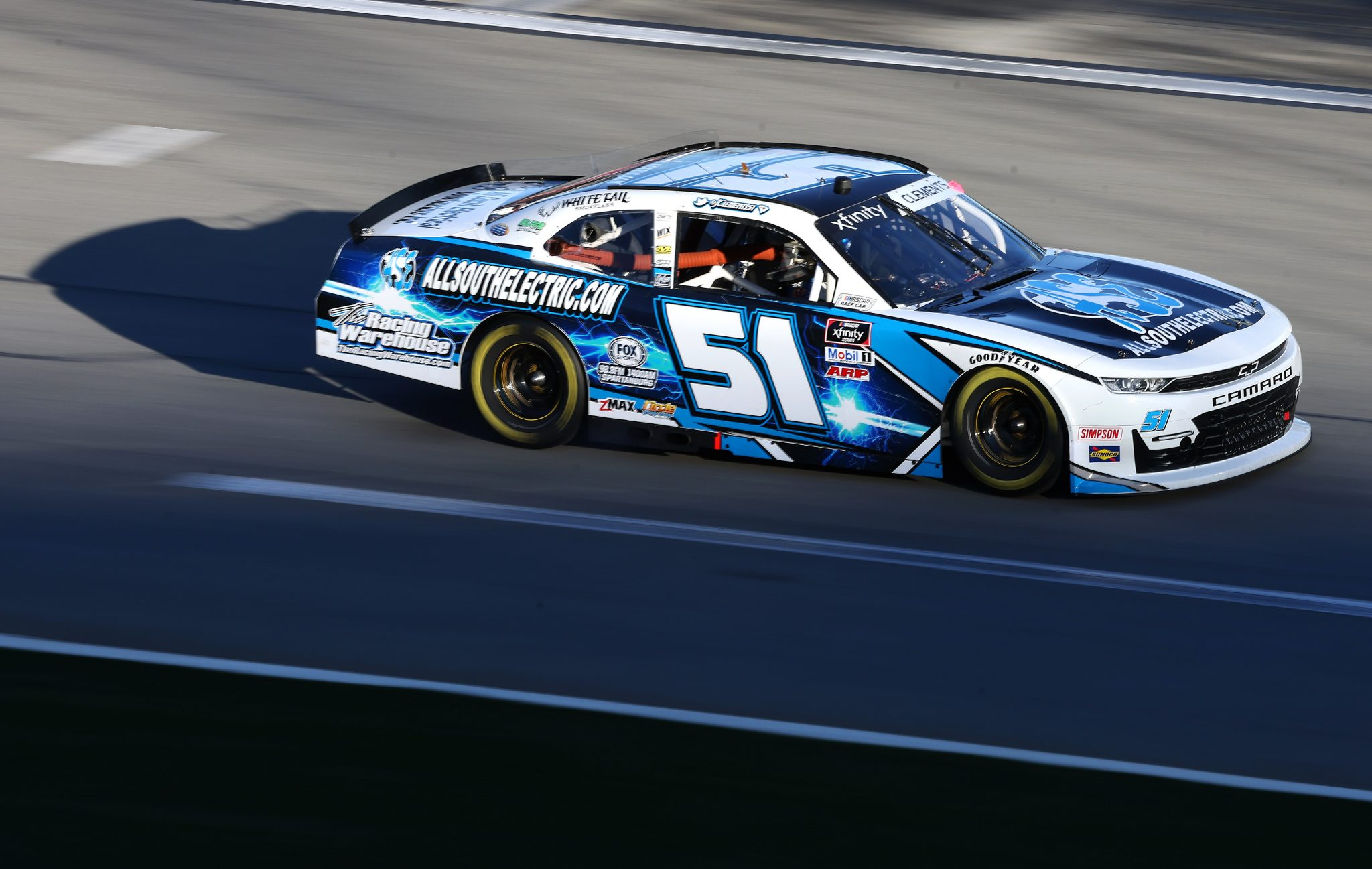 DAYTONA BEACH, FLORIDA - FEBRUARY 20: Jeremy Clements, driver of the #51 All South Electric Chevrolet, drives during the NASCAR Xfinity Super Start Batteries 188 At Daytona Presented by O'Reilly at Daytona International Speedway on February 20, 2021 in Daytona Beach, Florida. (Photo by James Gilbert/Getty Images) | Getty Images