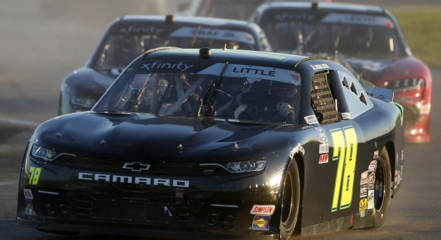 DAYTONA BEACH, FLORIDA - FEBRUARY 20: Jesse Little, driver of the #78 Chevrolet, leads the field during the NASCAR Xfinity Super Start Batteries 188 At Daytona Presented by O'Reilly at Daytona International Speedway on February 20, 2021 in Daytona Beach, Florida. (Photo by Brian Lawdermilk/Getty Images) | Getty Images