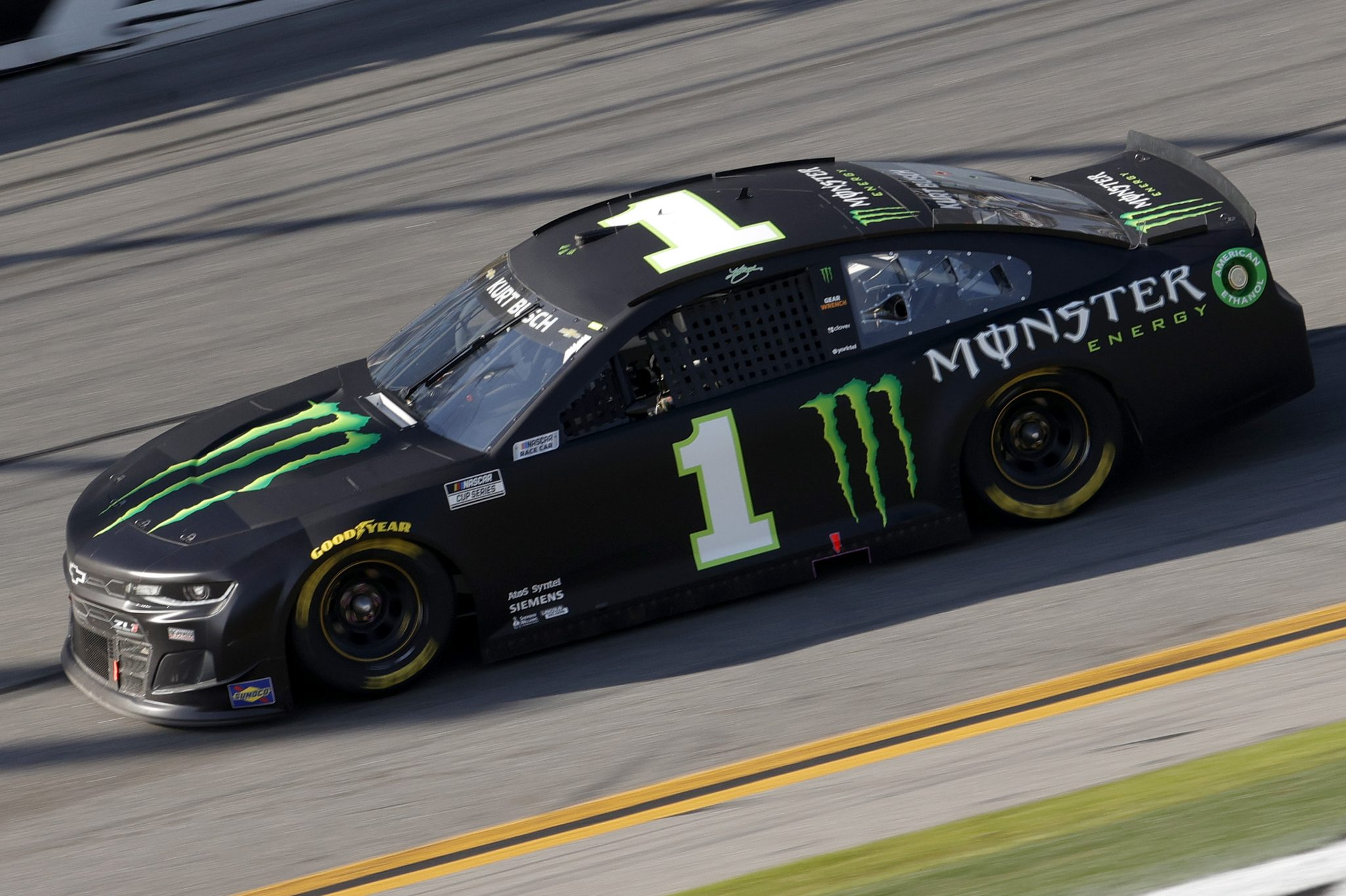DAYTONA BEACH, FLORIDA - FEBRUARY 21: Kurt Busch, driver of the #1 Monster Energy Chevrolet, drives during the NASCAR Cup Series O'Reilly Auto Parts 253 at Daytona International Speedway on February 21, 2021 in Daytona Beach, Florida. (Photo by Chris Graythen/Getty Images) | Getty Images
