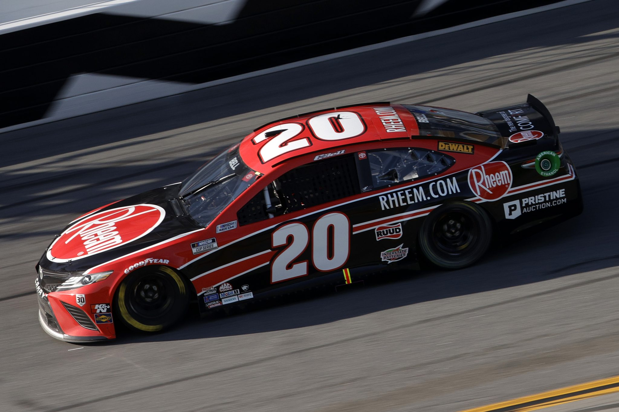 DAYTONA BEACH, FLORIDA - FEBRUARY 21: Christopher Bell, driver of the #20 Rheem Toyota, drives during the NASCAR Cup Series O'Reilly Auto Parts 253 at Daytona International Speedway on February 21, 2021 in Daytona Beach, Florida. (Photo by Chris Graythen/Getty Images) | Getty Images