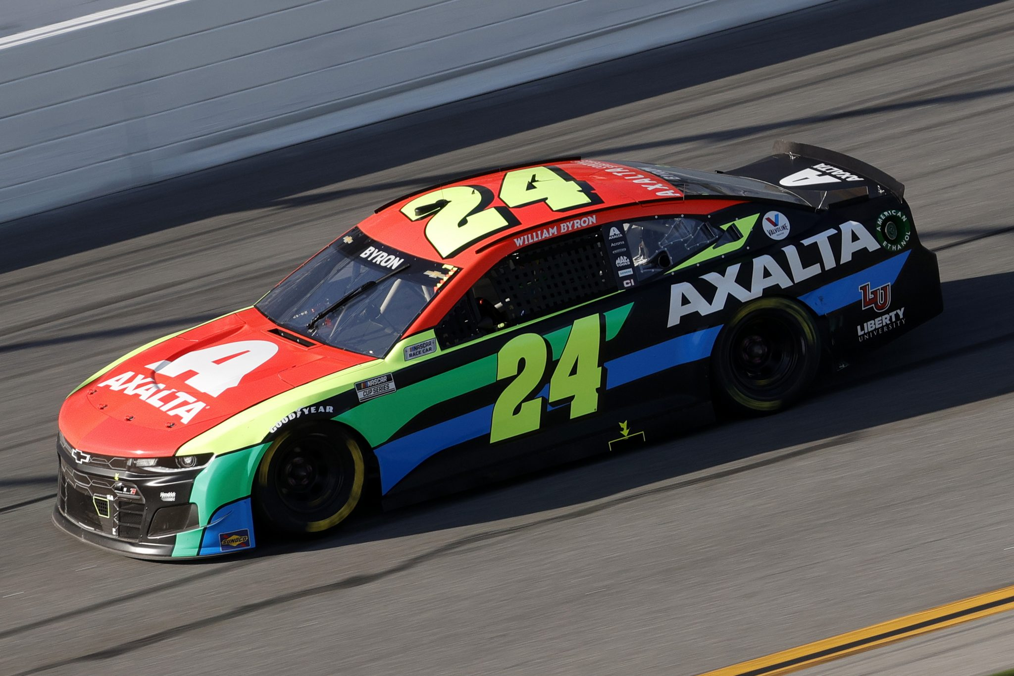 DAYTONA BEACH, FLORIDA - FEBRUARY 21: William Byron, driver of the #24 Axalta Chevrolet, drives during the NASCAR Cup Series O'Reilly Auto Parts 253 at Daytona International Speedway on February 21, 2021 in Daytona Beach, Florida. (Photo by Chris Graythen/Getty Images) | Getty Images