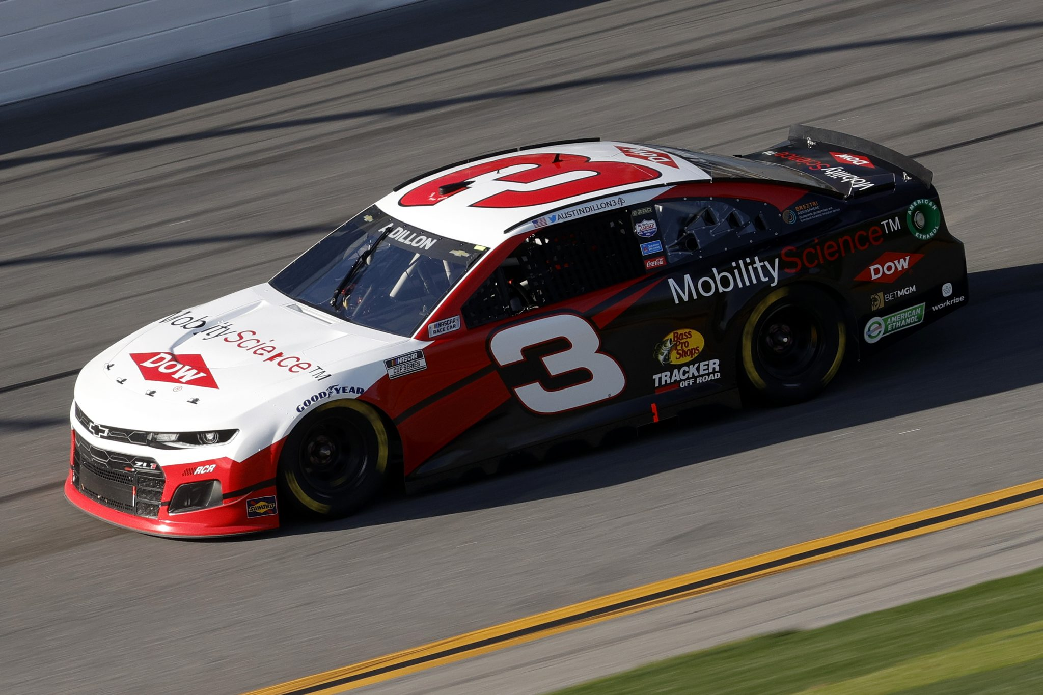 DAYTONA BEACH, FLORIDA - FEBRUARY 21: Austin Dillon, driver of the #3 Chevrolet, drives during the NASCAR Cup Series O'Reilly Auto Parts 253 at Daytona International Speedway on February 21, 2021 in Daytona Beach, Florida. (Photo by Chris Graythen/Getty Images) | Getty Images