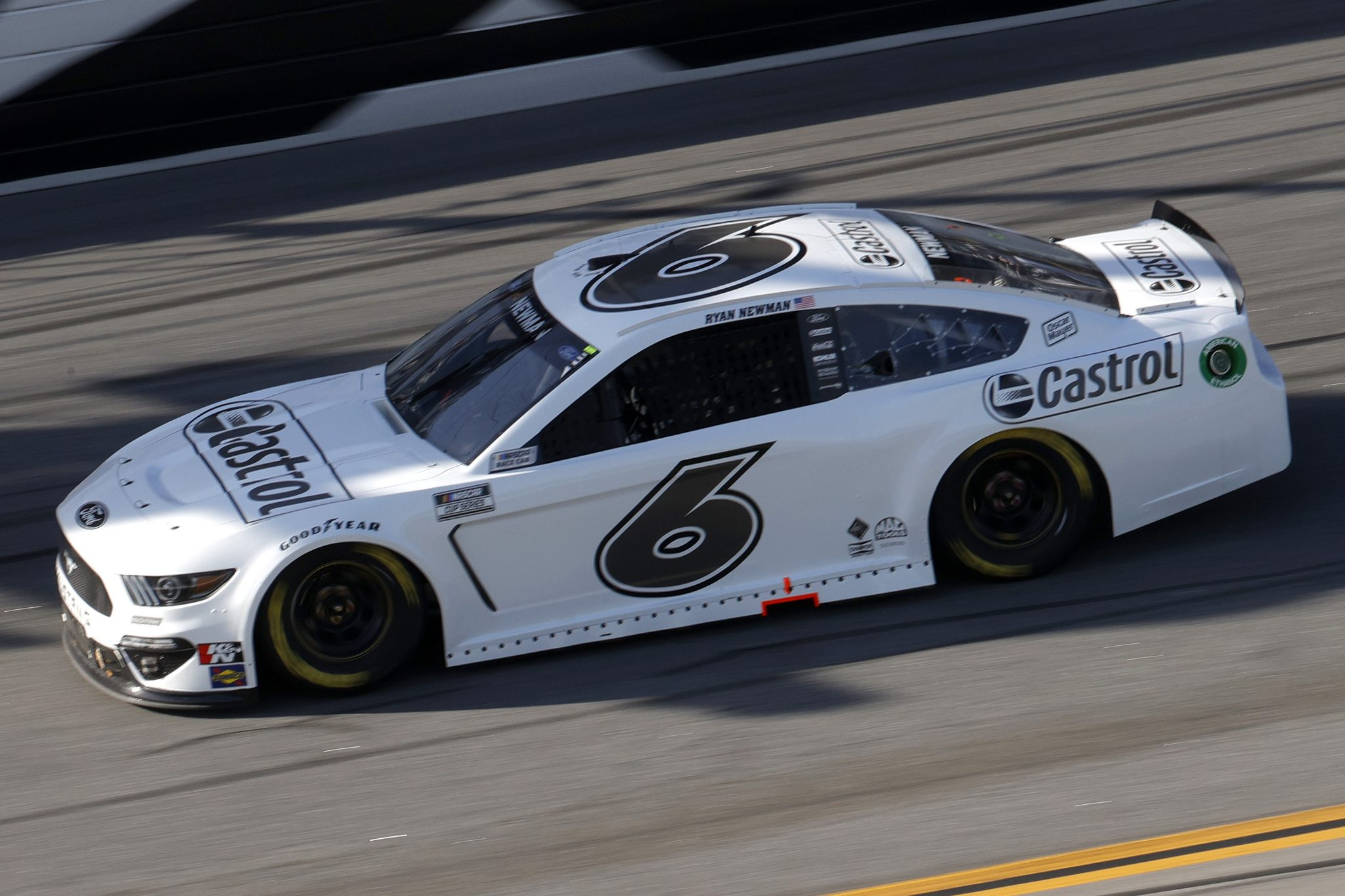DAYTONA BEACH, FLORIDA - FEBRUARY 21: Ryan Newman, driver of the #6 Ford, drives during the NASCAR Cup Series O'Reilly Auto Parts 253 at Daytona International Speedway on February 21, 2021 in Daytona Beach, Florida. (Photo by Chris Graythen/Getty Images) | Getty Images