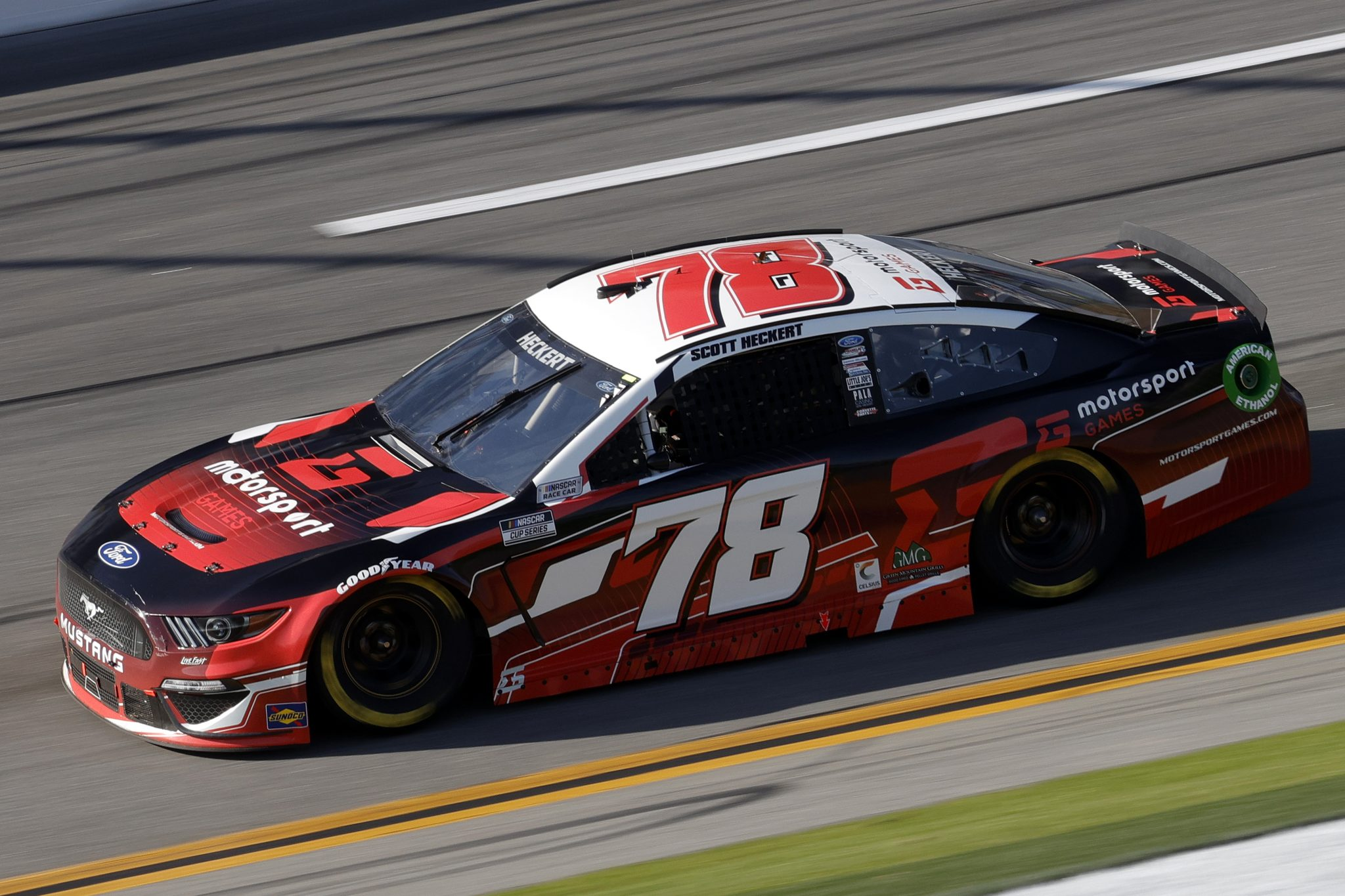DAYTONA BEACH, FLORIDA - FEBRUARY 21: Scott Heckert, driver of the #78 Ford, drives during the NASCAR Cup Series O'Reilly Auto Parts 253 at Daytona International Speedway on February 21, 2021 in Daytona Beach, Florida. (Photo by Chris Graythen/Getty Images) | Getty Images
