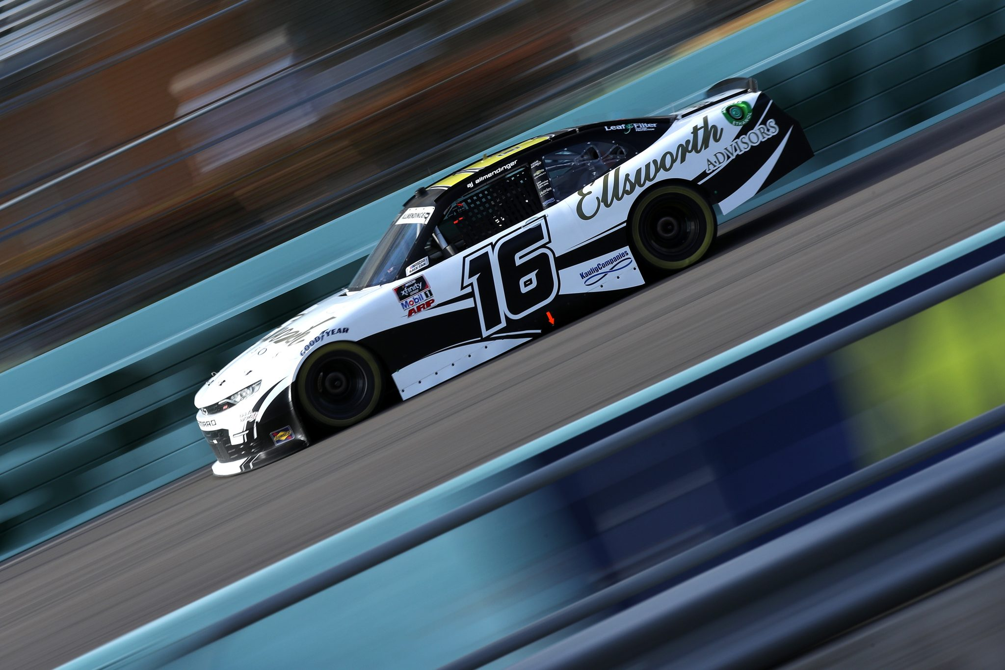 HOMESTEAD, FLORIDA - FEBRUARY 27: AJ Allmendinger, driver of the #16 Ellsworth Advisors Chevrolet, drives during the NASCAR Xfinity Series Contender Boats 250 at Homestead-Miami Speedway on February 27, 2021 in Homestead, Florida. (Photo by Sean Gardner/Getty Images) | Getty Images