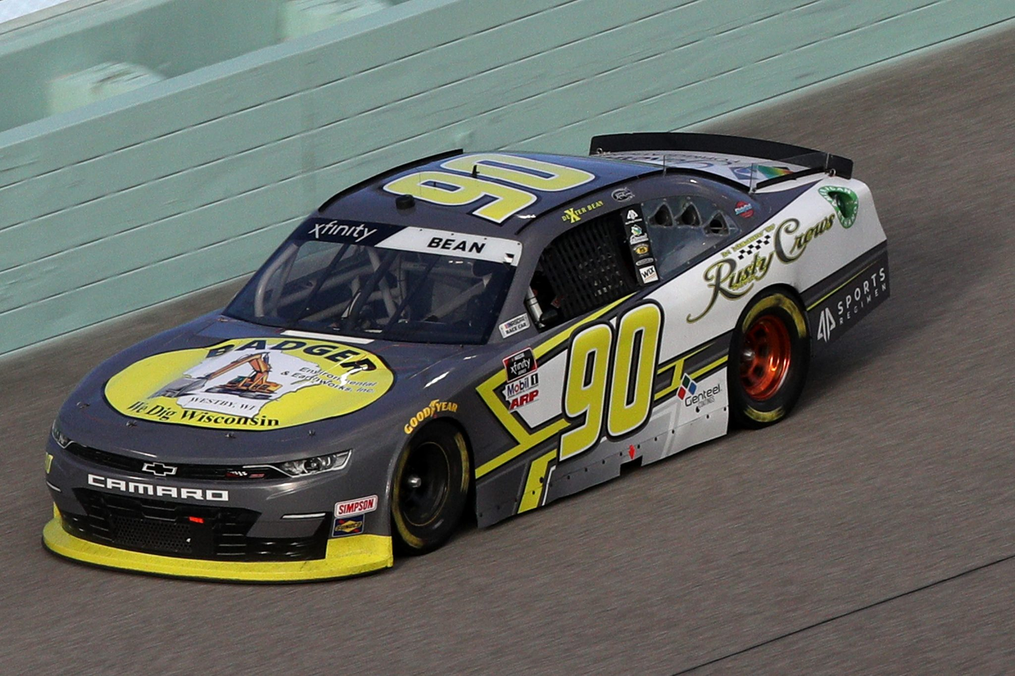 HOMESTEAD, FLORIDA - FEBRUARY 27: Dexter Bean, driver of the #90 Chinchor Electric/Danus Chevrolet, drives during the NASCAR Xfinity Series Contender Boats 250 at Homestead-Miami Speedway on February 27, 2021 in Homestead, Florida. (Photo by Sean Gardner/Getty Images) | Getty Images