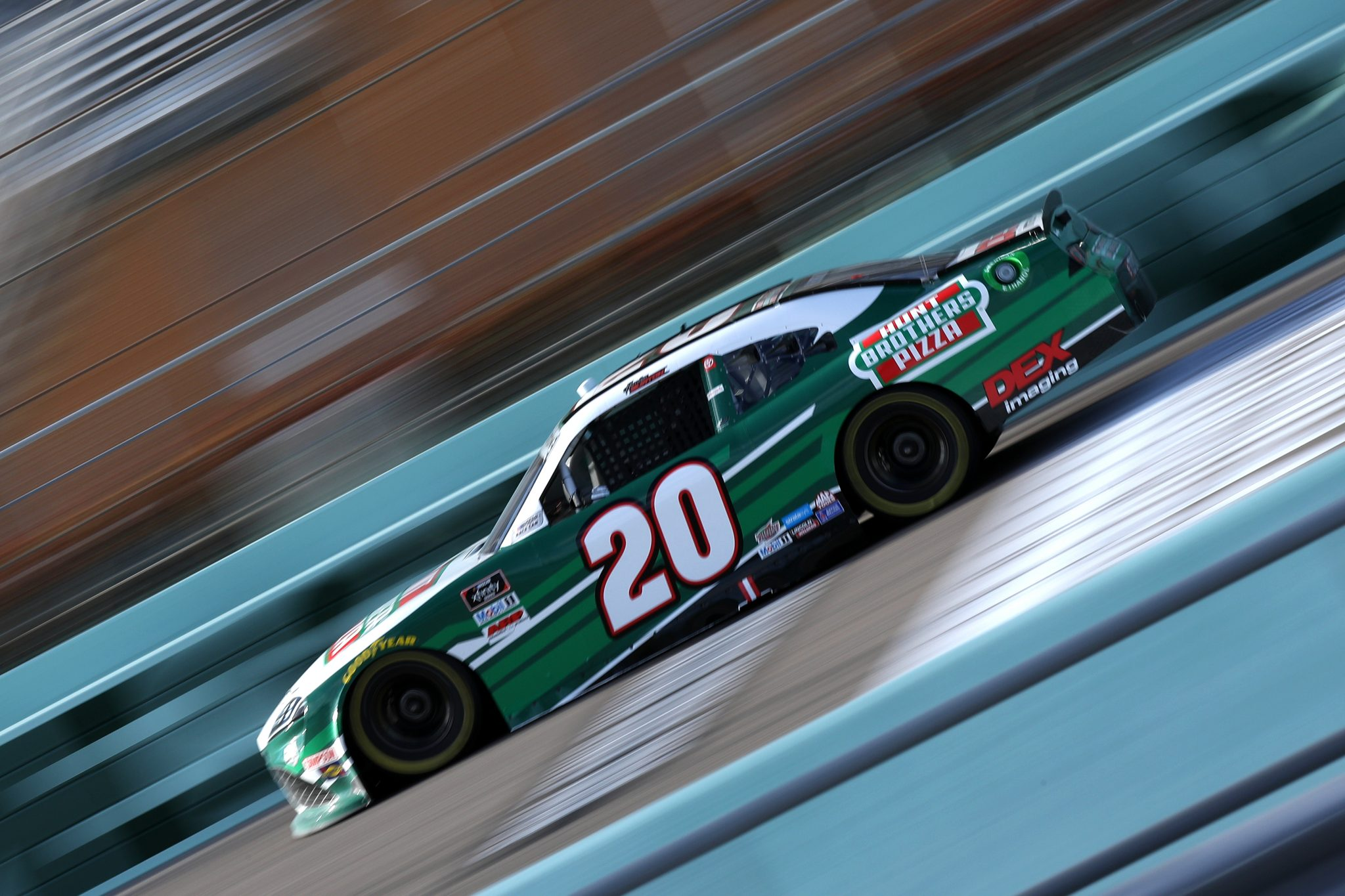 HOMESTEAD, FLORIDA - FEBRUARY 27: Harrison Burton, driver of the #20 Hunt Brothers Pizza/DEX Imaging Toyota, drives during the NASCAR Xfinity Series Contender Boats 250 at Homestead-Miami Speedway on February 27, 2021 in Homestead, Florida. (Photo by Sean Gardner/Getty Images) | Getty Images