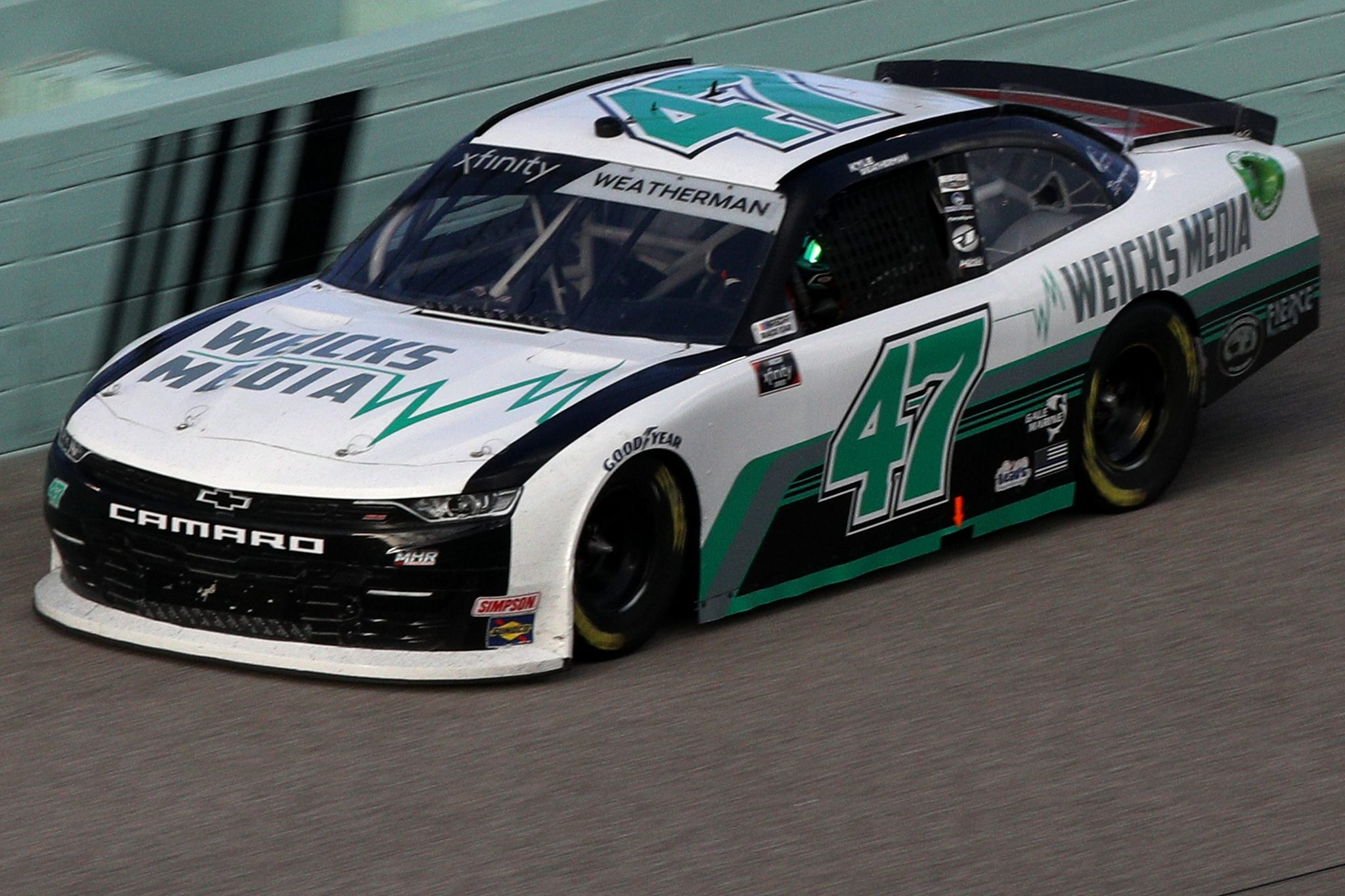 HOMESTEAD, FLORIDA - FEBRUARY 27: Kyle Weatherman, driver of the #47 Weiks Media Chevrolet, drives during the NASCAR Xfinity Series Contender Boats 250 at Homestead-Miami Speedway on February 27, 2021 in Homestead, Florida. (Photo by Sean Gardner/Getty Images) | Getty Images