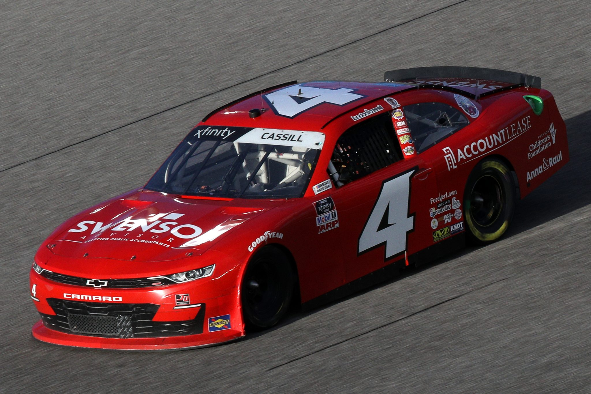 HOMESTEAD, FLORIDA - FEBRUARY 27: Landon Cassill, driver of the #4 TeamJDMotorsports.com Chevrolet, drives during the NASCAR Xfinity Series Contender Boats 250 at Homestead-Miami Speedway on February 27, 2021 in Homestead, Florida. (Photo by Sean Gardner/Getty Images) | Getty Images