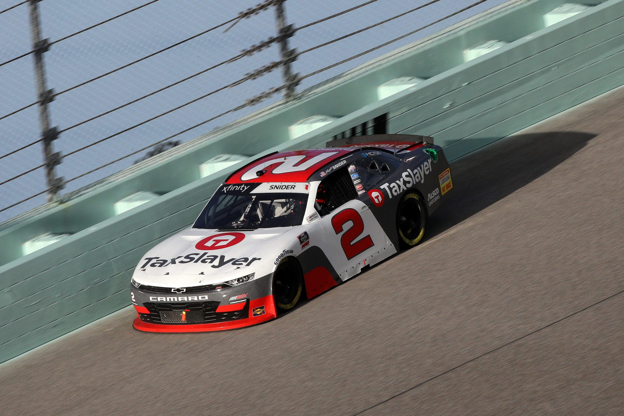 HOMESTEAD, FLORIDA - FEBRUARY 27: Myatt Snider, driver of the #2 TaxSlayer Chevrolet, drives during the NASCAR Xfinity Series Contender Boats 250 at Homestead-Miami Speedway on February 27, 2021 in Homestead, Florida. (Photo by Sean Gardner/Getty Images) | Getty Images