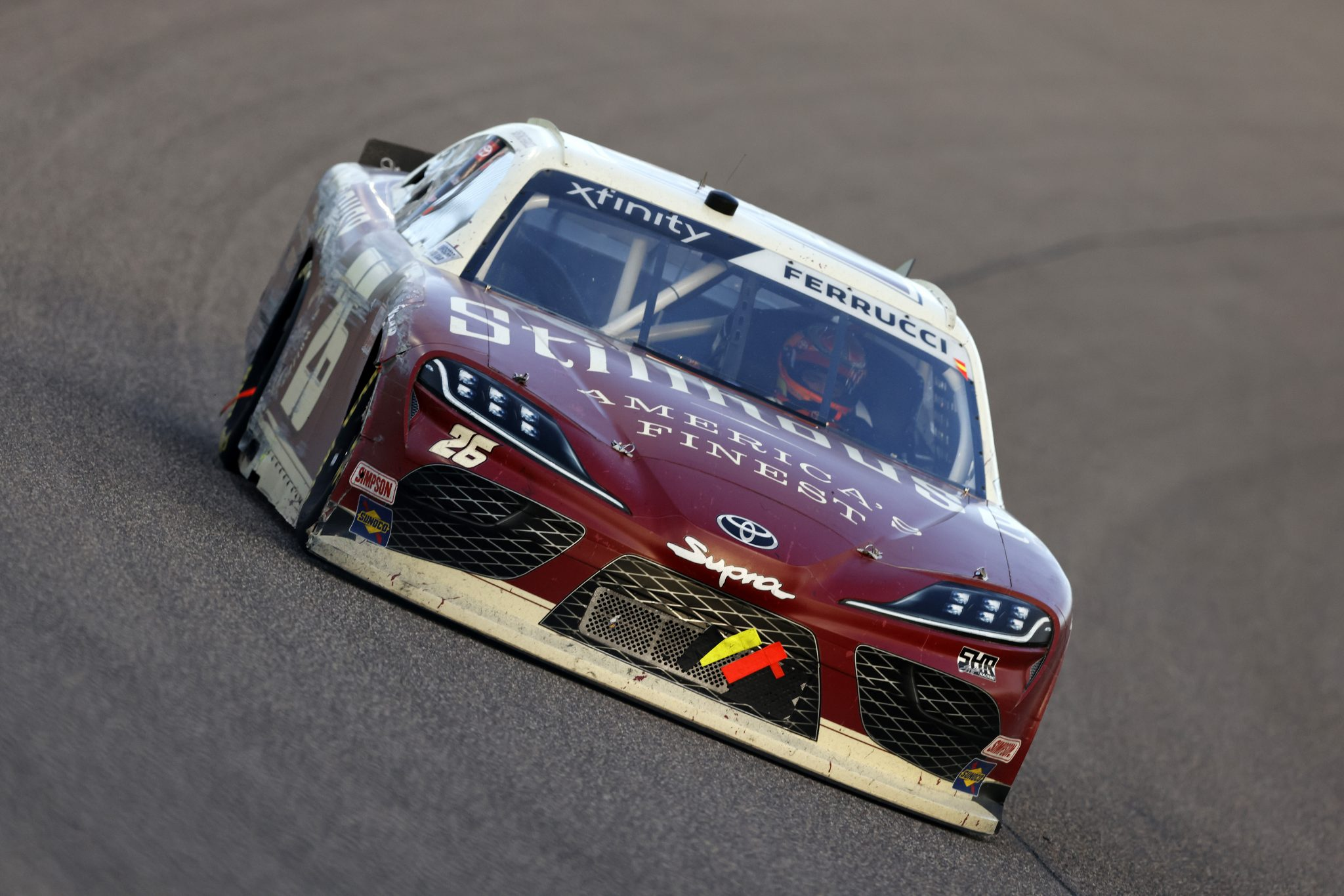 HOMESTEAD, FLORIDA - FEBRUARY 27: Santino Ferrucci, driver of the #26 Stillhouse Whiskey Toyota, drives during the NASCAR Xfinity Series Contender Boats 250 at Homestead-Miami Speedway on February 27, 2021 in Homestead, Florida. (Photo by Michael Reaves/Getty Images) | Getty Images