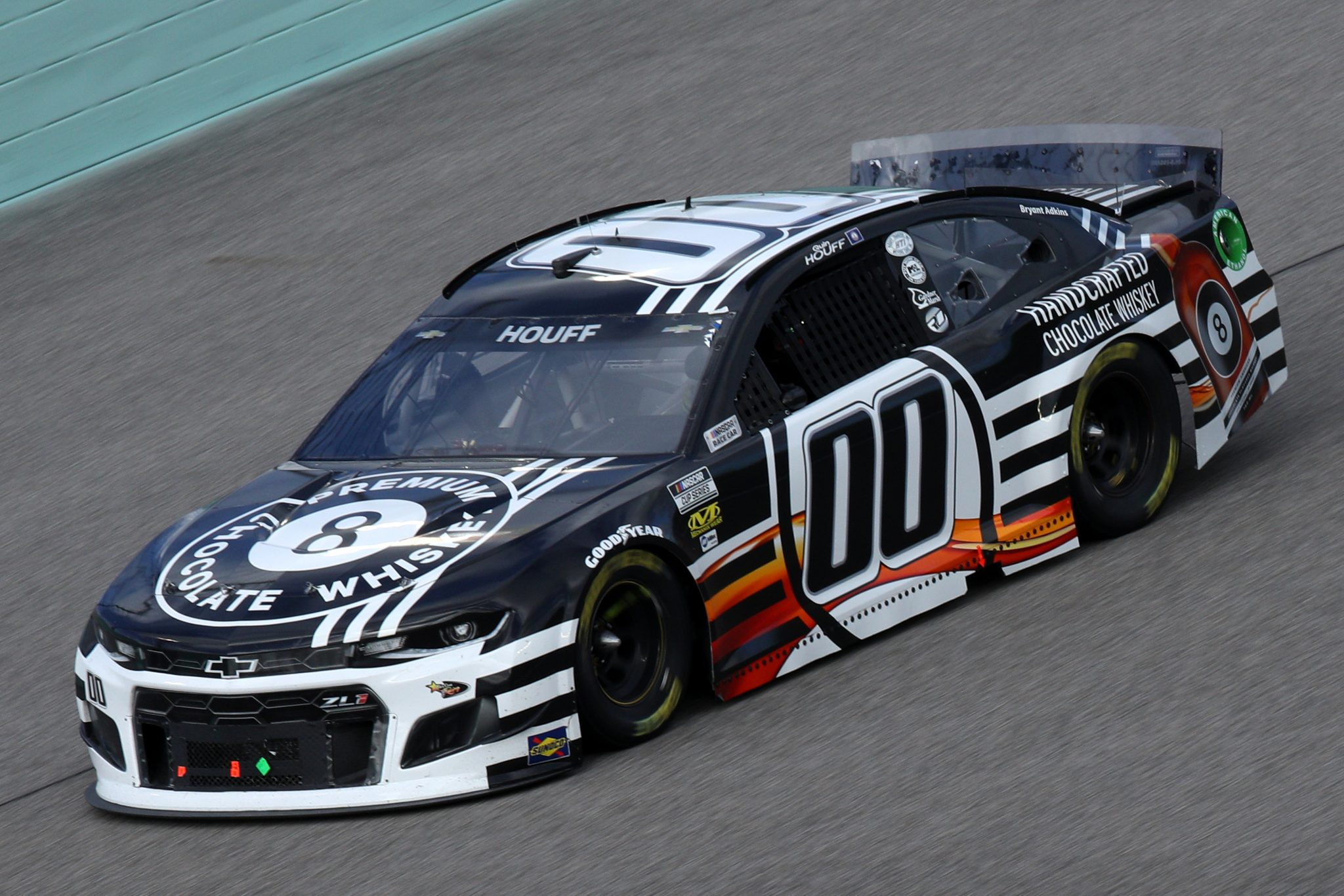 HOMESTEAD, FLORIDA - FEBRUARY 28: Quin Houff, driver of the #00 8 Ball Whiskey Chevrolet, drives during the NASCAR Cup Series Dixie Vodka 400 at Homestead-Miami Speedway on February 28, 2021 in Homestead, Florida. (Photo by Sean Gardner/Getty Images) | Getty Images