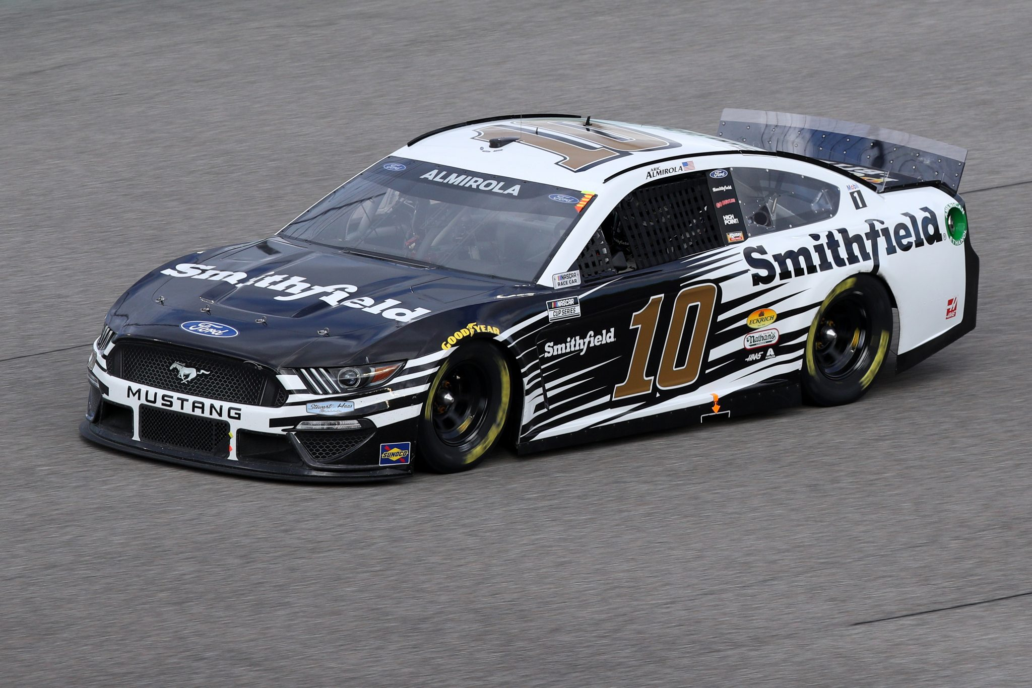 HOMESTEAD, FLORIDA - FEBRUARY 28: Aric Almirola, driver of the #10 Smithfield Ford, drives during the NASCAR Cup Series Dixie Vodka 400 at Homestead-Miami Speedway on February 28, 2021 in Homestead, Florida. (Photo by Sean Gardner/Getty Images) | Getty Images