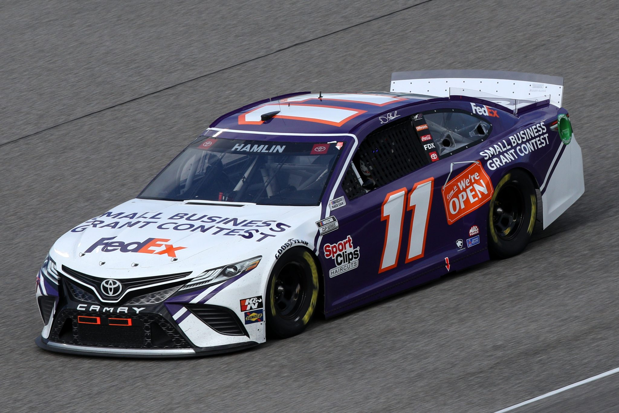 HOMESTEAD, FLORIDA - FEBRUARY 28: Denny Hamlin, driver of the #11 Small Business Grant Constest Toyota, drives during the NASCAR Cup Series Dixie Vodka 400 at Homestead-Miami Speedway on February 28, 2021 in Homestead, Florida. (Photo by Sean Gardner/Getty Images) | Getty Images