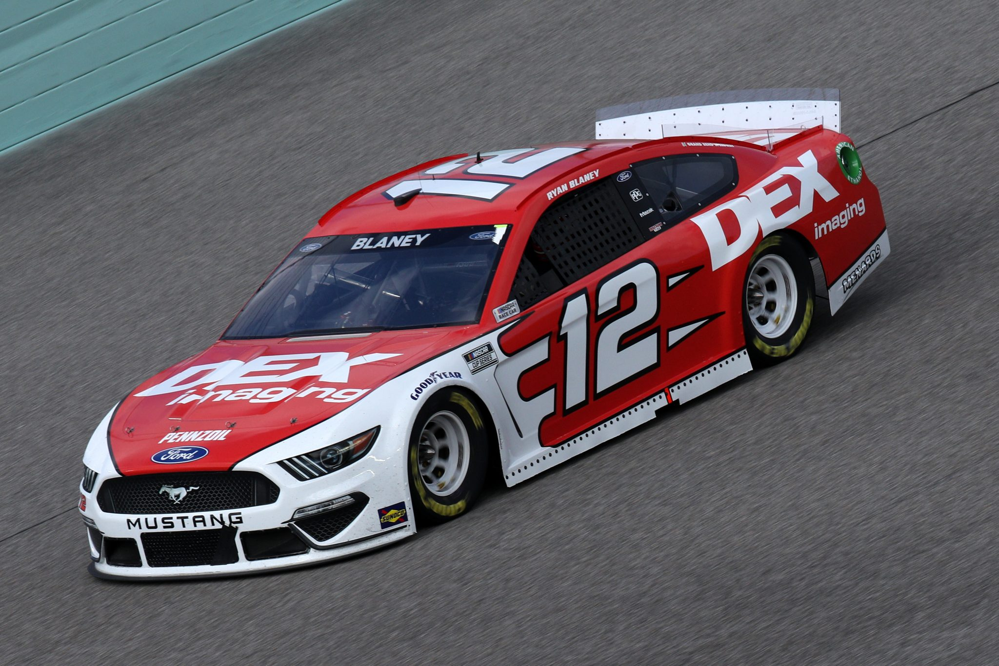 HOMESTEAD, FLORIDA - FEBRUARY 28: Ryan Blaney, driver of the #12 DEX Imaging Ford, drives during the NASCAR Cup Series Dixie Vodka 400 at Homestead-Miami Speedway on February 28, 2021 in Homestead, Florida. (Photo by Sean Gardner/Getty Images) | Getty Images