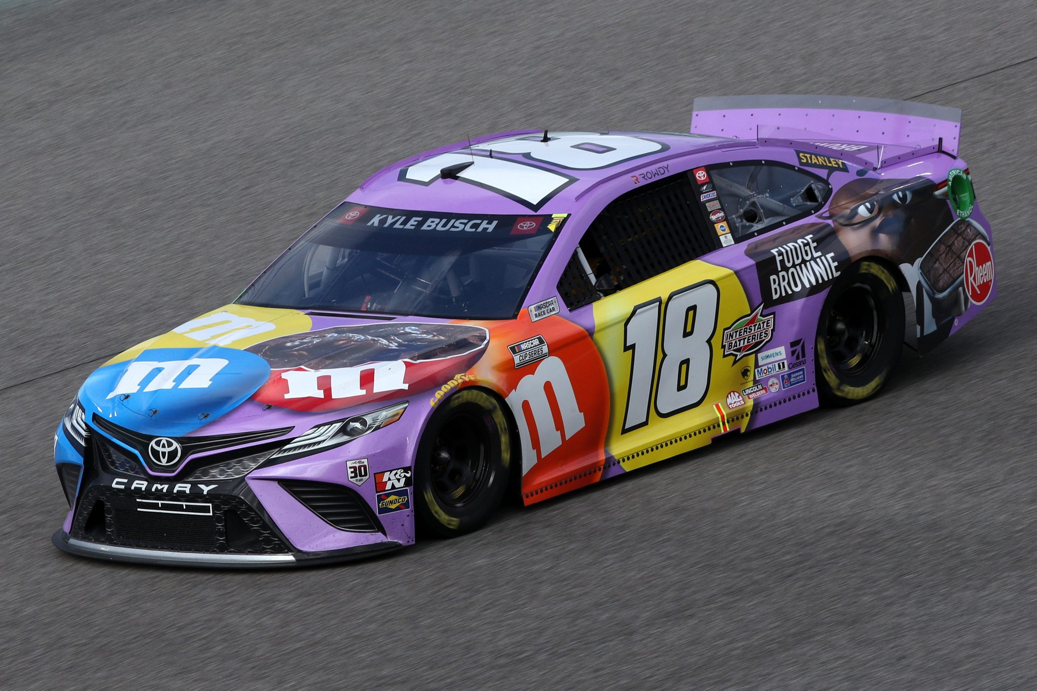 HOMESTEAD, FLORIDA - FEBRUARY 28: Kyle Busch, driver of the #18 M&M's Fudge Brownie Toyota, drives during the NASCAR Cup Series Dixie Vodka 400 at Homestead-Miami Speedway on February 28, 2021 in Homestead, Florida. (Photo by Sean Gardner/Getty Images) | Getty Images