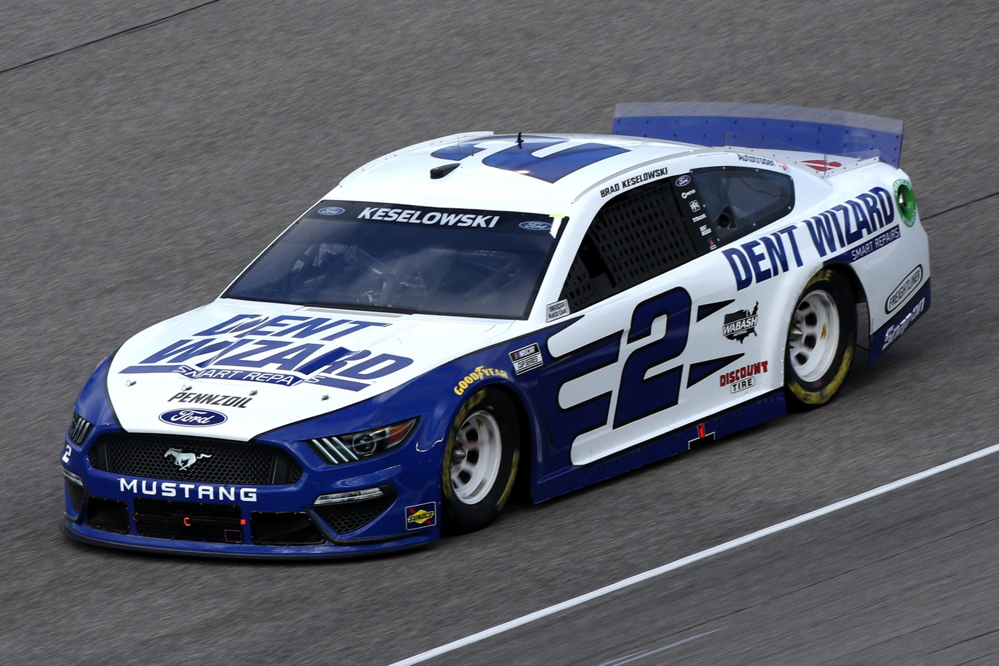 HOMESTEAD, FLORIDA - FEBRUARY 28: Brad Keselowski, driver of the #2 Dent Wizard Ford, drives during the NASCAR Cup Series Dixie Vodka 400 at Homestead-Miami Speedway on February 28, 2021 in Homestead, Florida. (Photo by Sean Gardner/Getty Images) | Getty Images