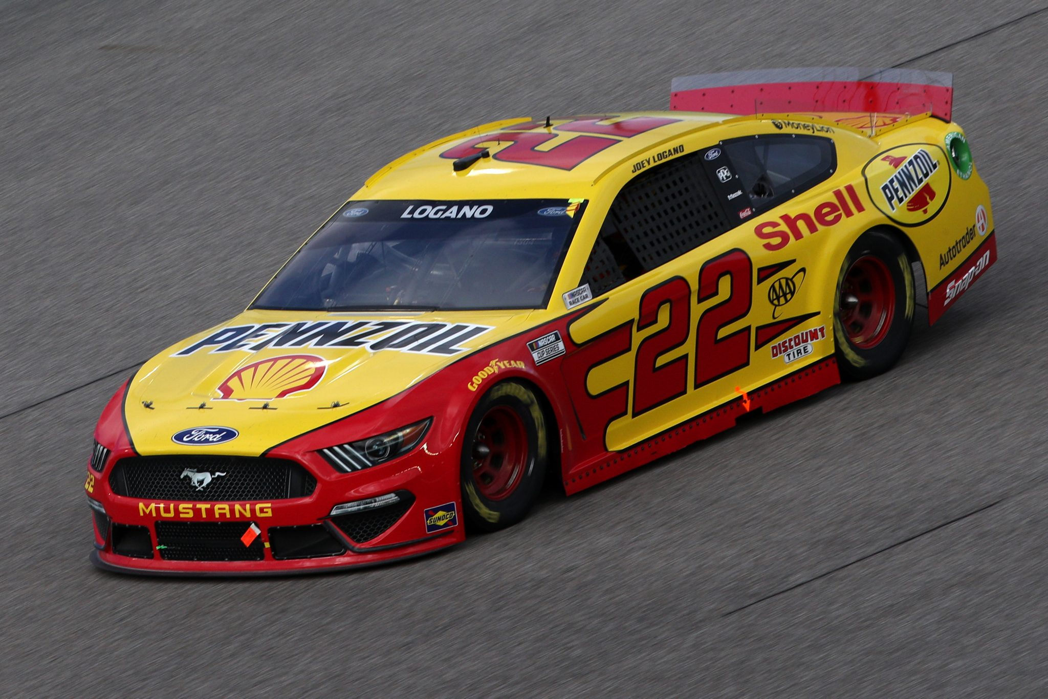 HOMESTEAD, FLORIDA - FEBRUARY 28: Joey Logano, driver of the #22 Shell Pennzoil Ford, drives during the NASCAR Cup Series Dixie Vodka 400 at Homestead-Miami Speedway on February 28, 2021 in Homestead, Florida. (Photo by Sean Gardner/Getty Images) | Getty Images