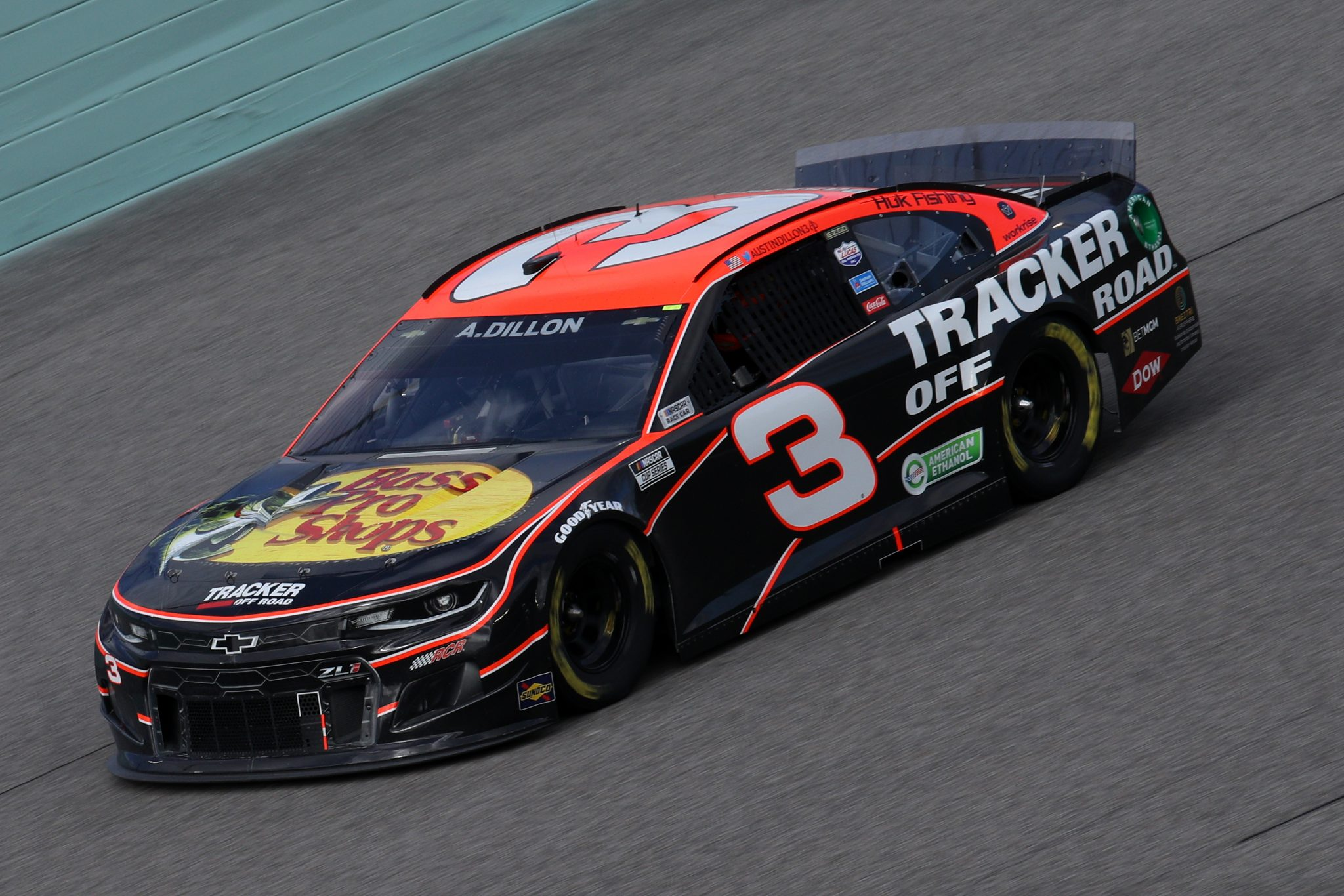 HOMESTEAD, FLORIDA - FEBRUARY 28: Austin Dillon, driver of the #3 Bass Pro Shops/Tracker Off Road Chevrolet, drives during the NASCAR Cup Series Dixie Vodka 400 at Homestead-Miami Speedway on February 28, 2021 in Homestead, Florida. (Photo by Sean Gardner/Getty Images) | Getty Images