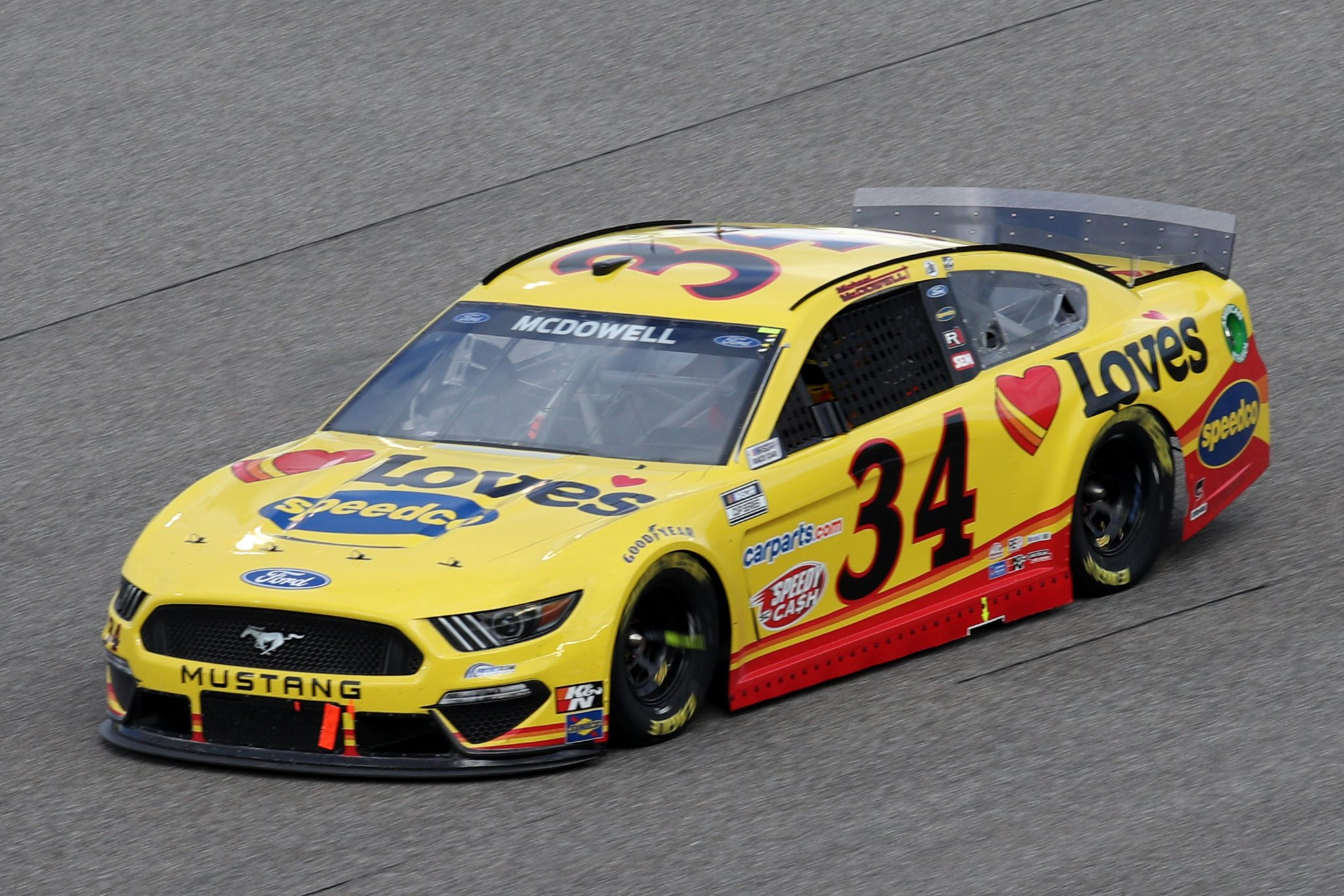 HOMESTEAD, FLORIDA - FEBRUARY 28: Michael McDowell, driver of the #34 Love's Travel Stops Ford, drives during the NASCAR Cup Series Dixie Vodka 400 at Homestead-Miami Speedway on February 28, 2021 in Homestead, Florida. (Photo by Sean Gardner/Getty Images) | Getty Images