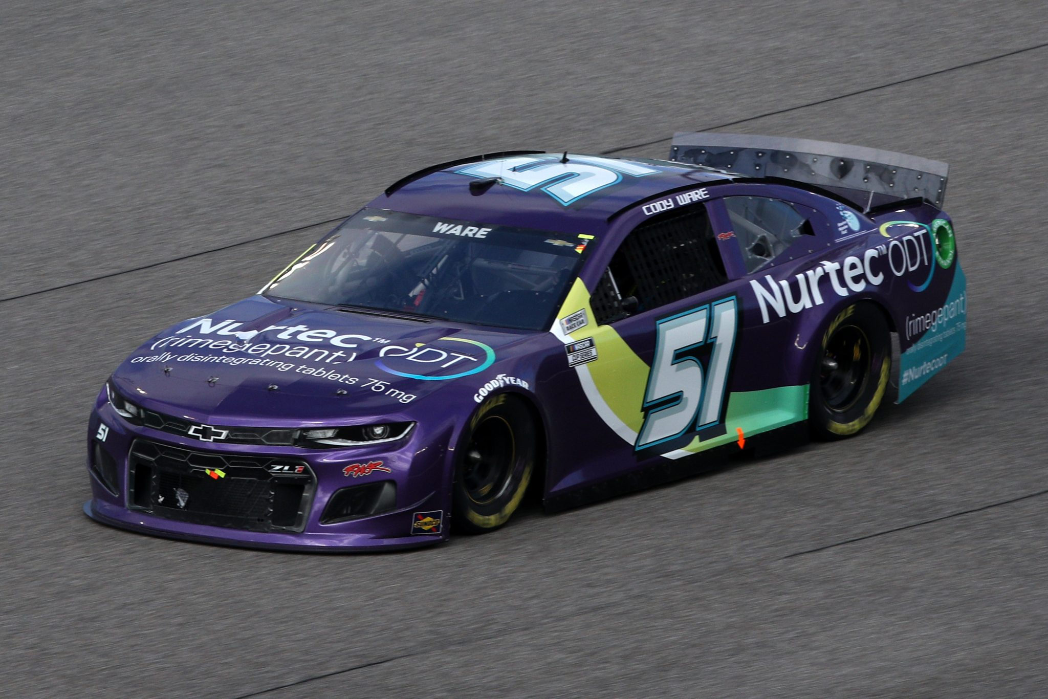 HOMESTEAD, FLORIDA - FEBRUARY 28: Cody Ware, driver of the #51 NURTEC ODT Chevrolet, drives during the NASCAR Cup Series Dixie Vodka 400 at Homestead-Miami Speedway on February 28, 2021 in Homestead, Florida. (Photo by Sean Gardner/Getty Images) | Getty Images