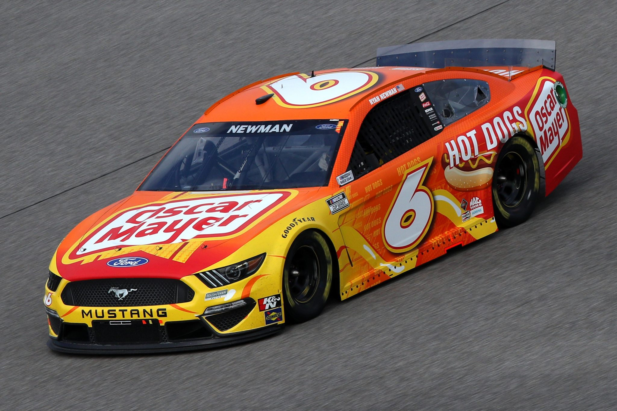 HOMESTEAD, FLORIDA - FEBRUARY 28: Ryan Newman, driver of the #6 Oscar Mayer Hot Dogs Ford, drives during the NASCAR Cup Series Dixie Vodka 400 at Homestead-Miami Speedway on February 28, 2021 in Homestead, Florida. (Photo by Sean Gardner/Getty Images) | Getty Images