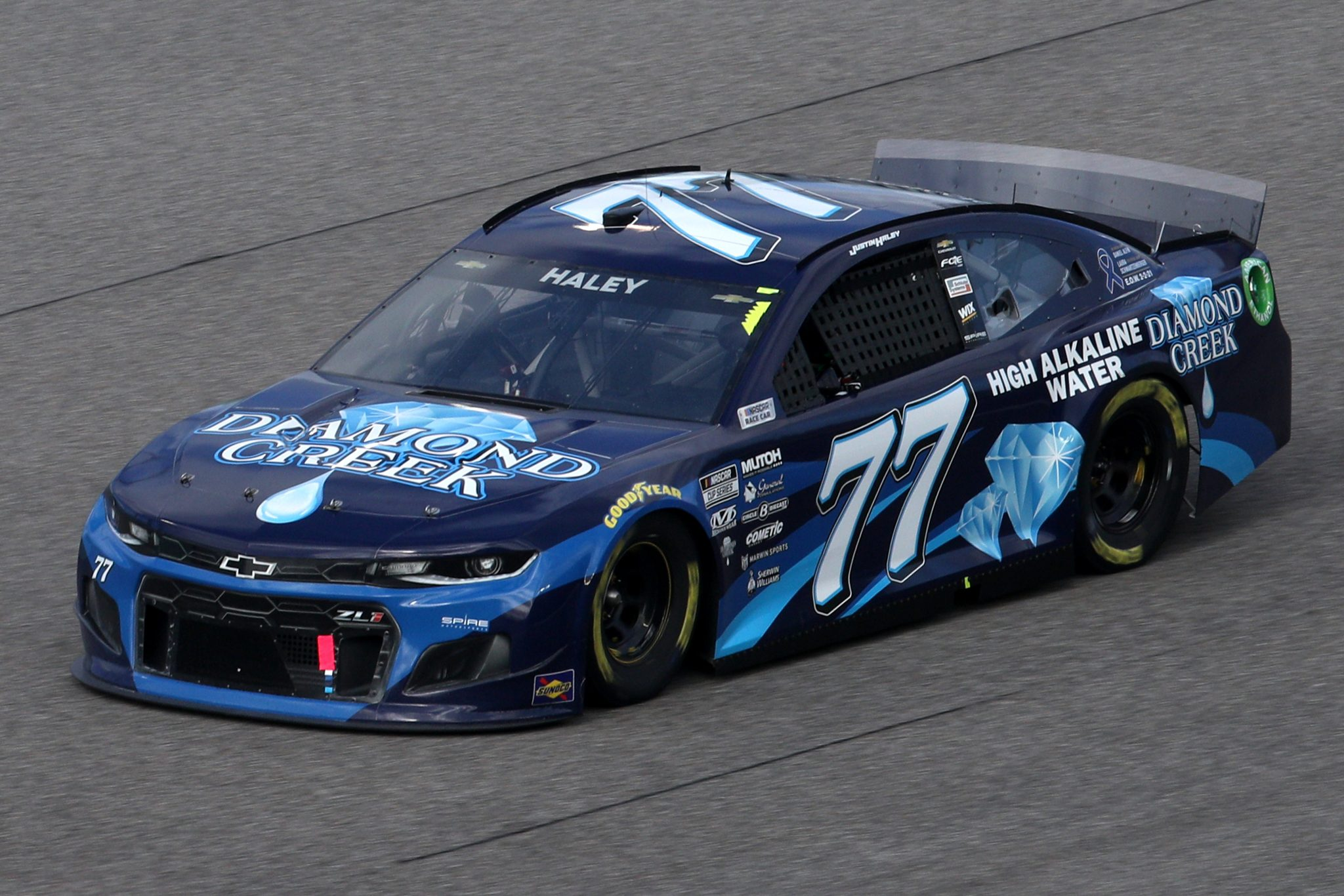 HOMESTEAD, FLORIDA - FEBRUARY 28: Justin Haley, driver of the #77 Diamond Creek Water Chevrolet, drives during the NASCAR Cup Series Dixie Vodka 400 at Homestead-Miami Speedway on February 28, 2021 in Homestead, Florida. (Photo by Sean Gardner/Getty Images) | Getty Images