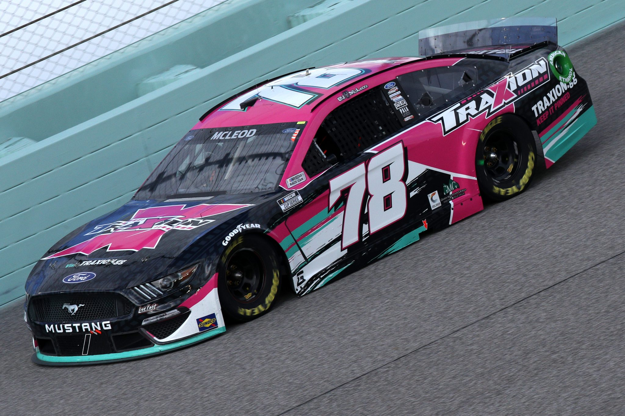 HOMESTEAD, FLORIDA - FEBRUARY 28: BJ McLeod, driver of the #78 Traxion.gg/Motorsport Games Ford, drives during the NASCAR Cup Series Dixie Vodka 400 at Homestead-Miami Speedway on February 28, 2021 in Homestead, Florida. (Photo by Sean Gardner/Getty Images) | Getty Images
