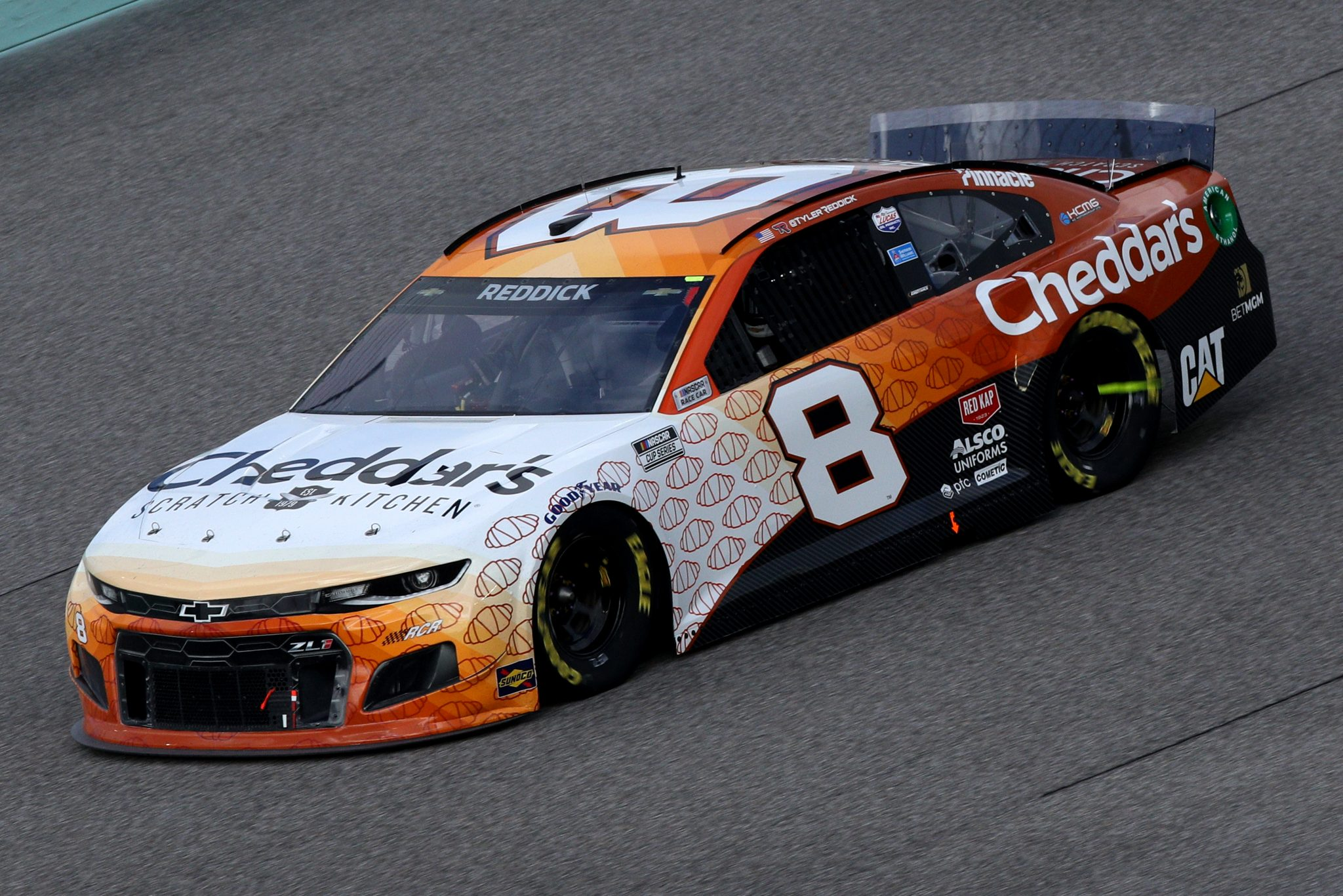HOMESTEAD, FLORIDA - FEBRUARY 28: Tyler Reddick, driver of the #8 Cheddar's Scratch Kitchen Chevrolet, drives during the NASCAR Cup Series Dixie Vodka 400 at Homestead-Miami Speedway on February 28, 2021 in Homestead, Florida. (Photo by Sean Gardner/Getty Images) | Getty Images