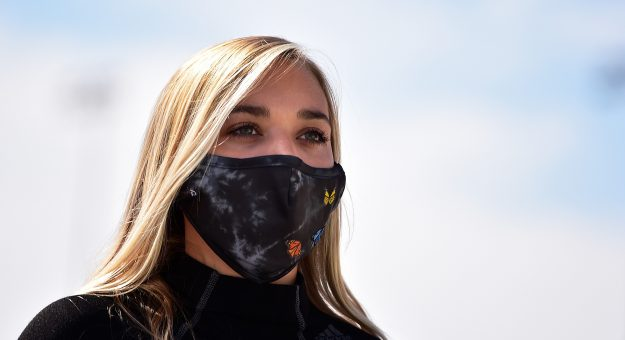 MADISON, IL - AUGUST 30: Natalie Decker, driver of the #44 N29 Capital Partners LLC Chevrolet, walks on pit road prior to the CarShield 200 presented by CK Power for the Gander Outdoors Truck Series at World Wide Technology Raceway on August 30, 2020 in Madison, Illinois. (Photo by Jeff Curry/Getty Images) | Getty Images