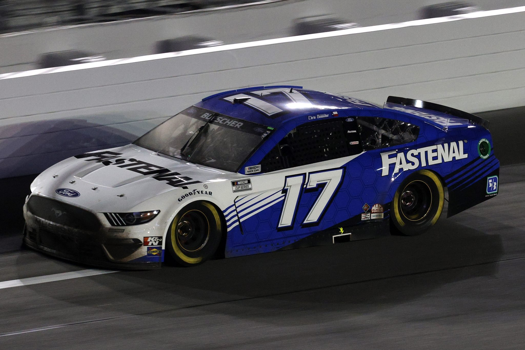 DAYTONA BEACH, FLORIDA - FEBRUARY 09: Chris Buescher, driver of the #17 Fastenal Ford, drives during the NASCAR Cup Series Busch Clash at Daytona at Daytona International Speedway on February 09, 2021 in Daytona Beach, Florida. (Photo by Chris Graythen/Getty Images) | Getty Images