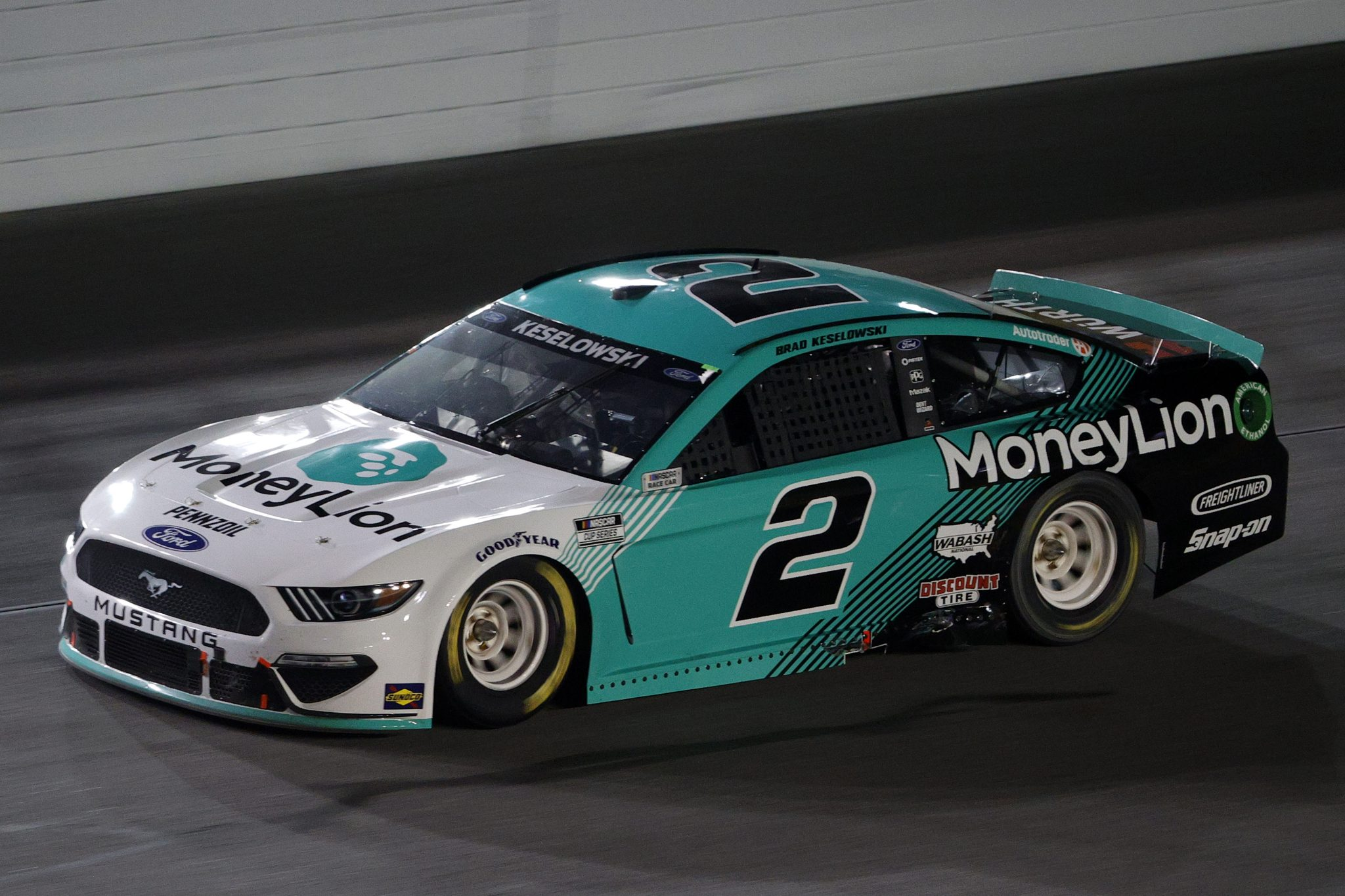 DAYTONA BEACH, FLORIDA - FEBRUARY 09: Brad Keselowski, driver of the #2 MoneyLion Ford, drives during the NASCAR Cup Series Busch Clash at Daytona at Daytona International Speedway on February 09, 2021 in Daytona Beach, Florida. (Photo by Chris Graythen/Getty Images) | Getty Images