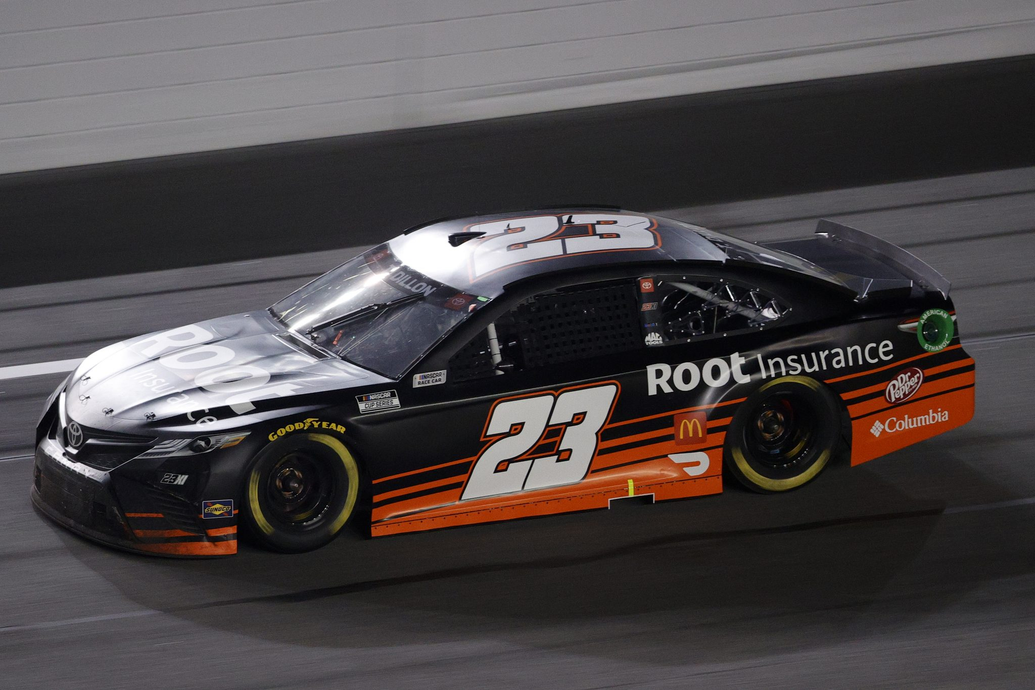 DAYTONA BEACH, FLORIDA - FEBRUARY 09: Ty Dillon, driver of the #23 Root Insurance Toyota, drives during the NASCAR Cup Series Busch Clash at Daytona at Daytona International Speedway on February 09, 2021 in Daytona Beach, Florida. (Photo by Chris Graythen/Getty Images) | Getty Images