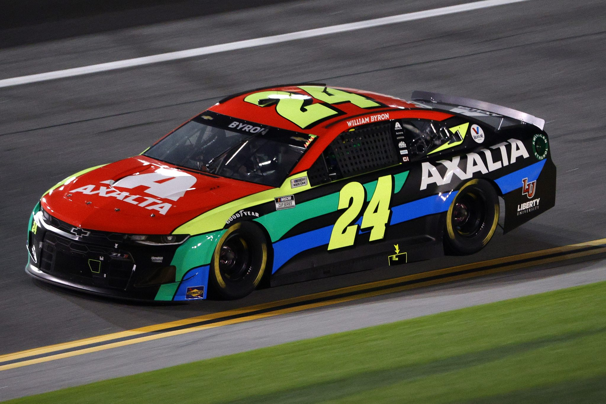 DAYTONA BEACH, FLORIDA - FEBRUARY 09: William Byron, driver of the #24 Axalta Chevrolet, drives during the NASCAR Cup Series Busch Clash at Daytona at Daytona International Speedway on February 09, 2021 in Daytona Beach, Florida. (Photo by Chris Graythen/Getty Images) | Getty Images