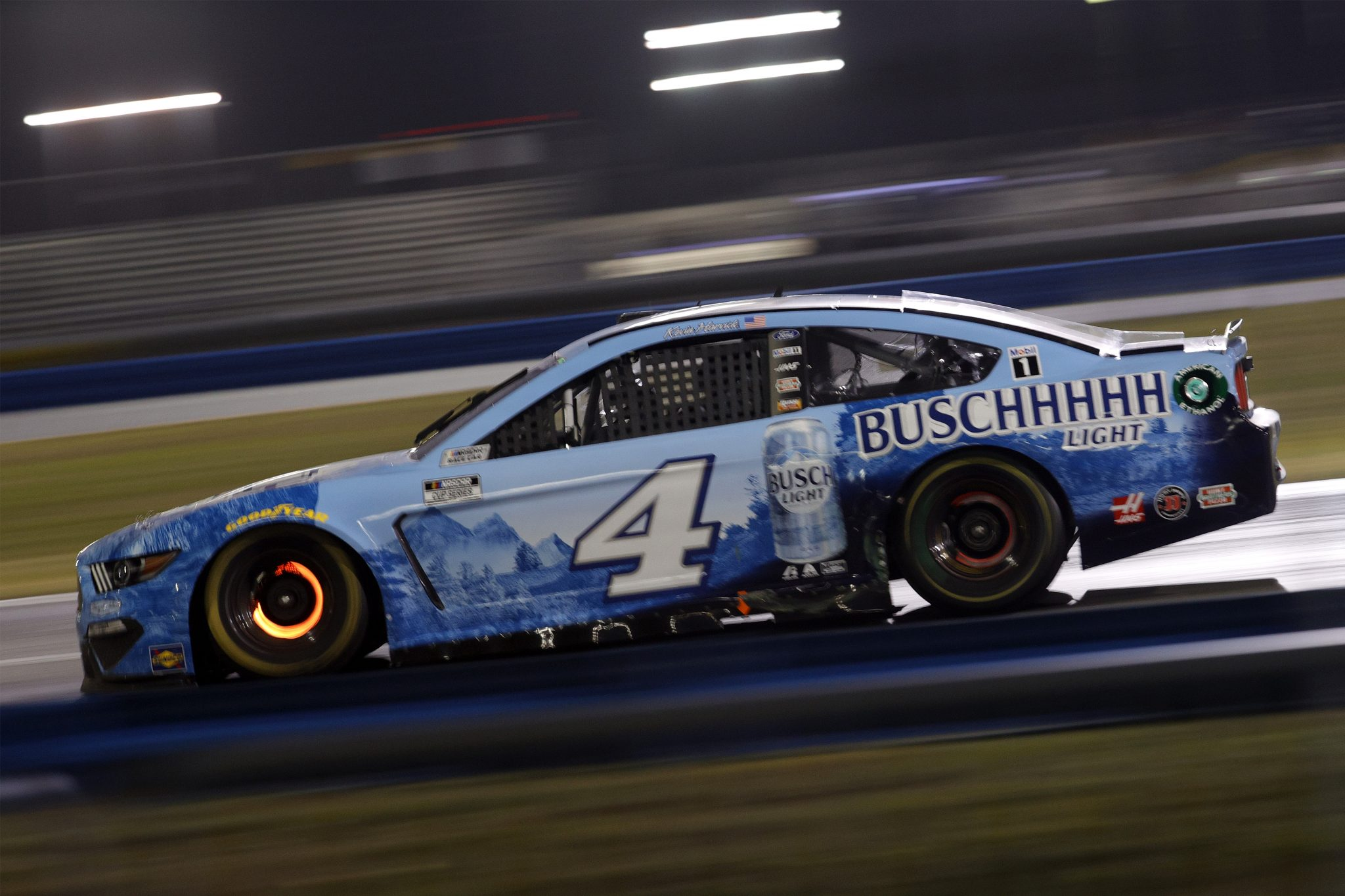 DAYTONA BEACH, FLORIDA - FEBRUARY 09: Kevin Harvick, driver of the #4 Busch Light Ford, drives during the NASCAR Cup Series Busch Clash at Daytona at Daytona International Speedway on February 09, 2021 in Daytona Beach, Florida. (Photo by Chris Graythen/Getty Images) | Getty Images