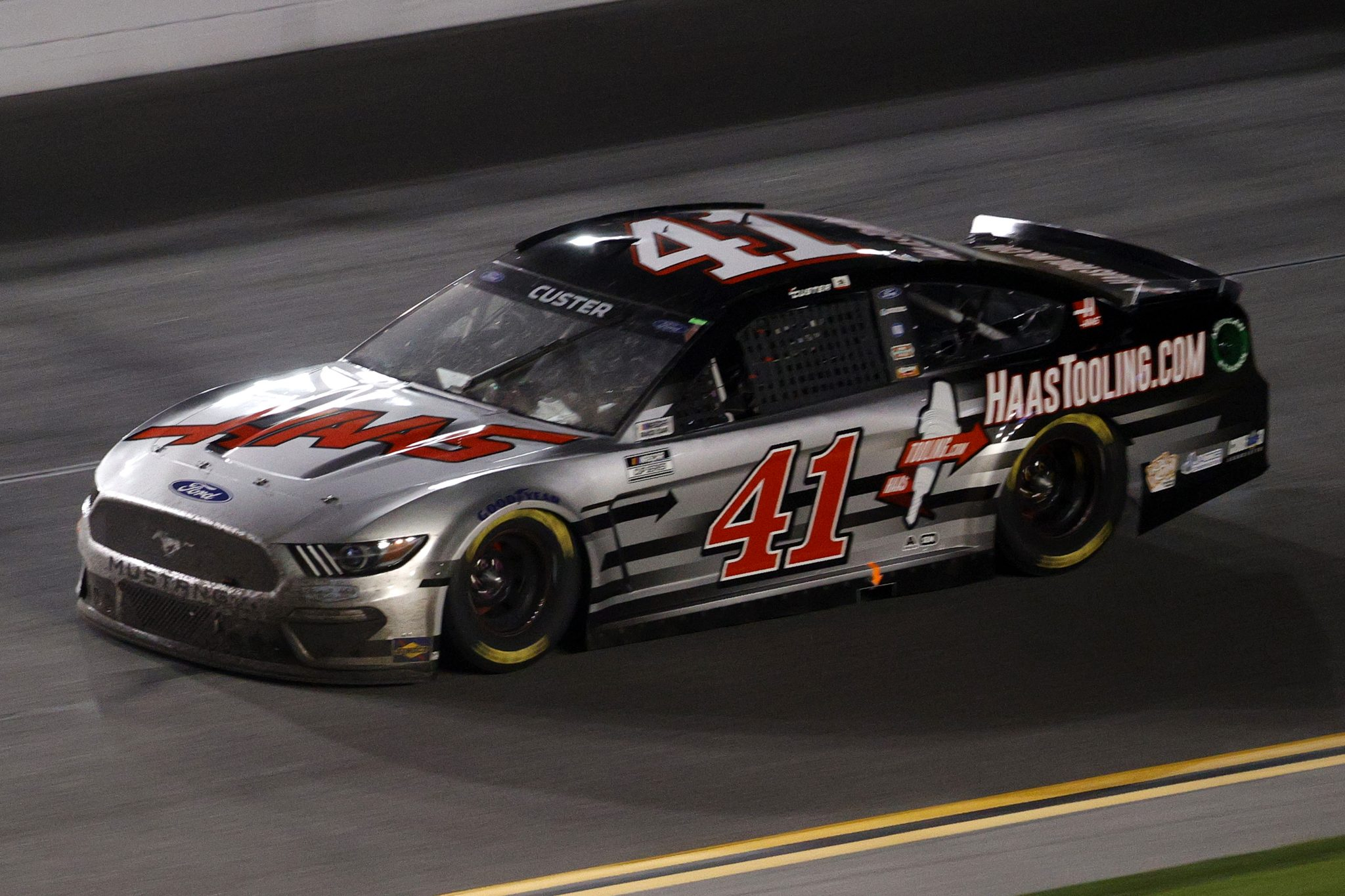 DAYTONA BEACH, FLORIDA - FEBRUARY 09: Cole Custer, driver of the #41 HaasTooling.com Ford, drives during the NASCAR Cup Series Busch Clash at Daytona at Daytona International Speedway on February 09, 2021 in Daytona Beach, Florida. (Photo by Chris Graythen/Getty Images) | Getty Images