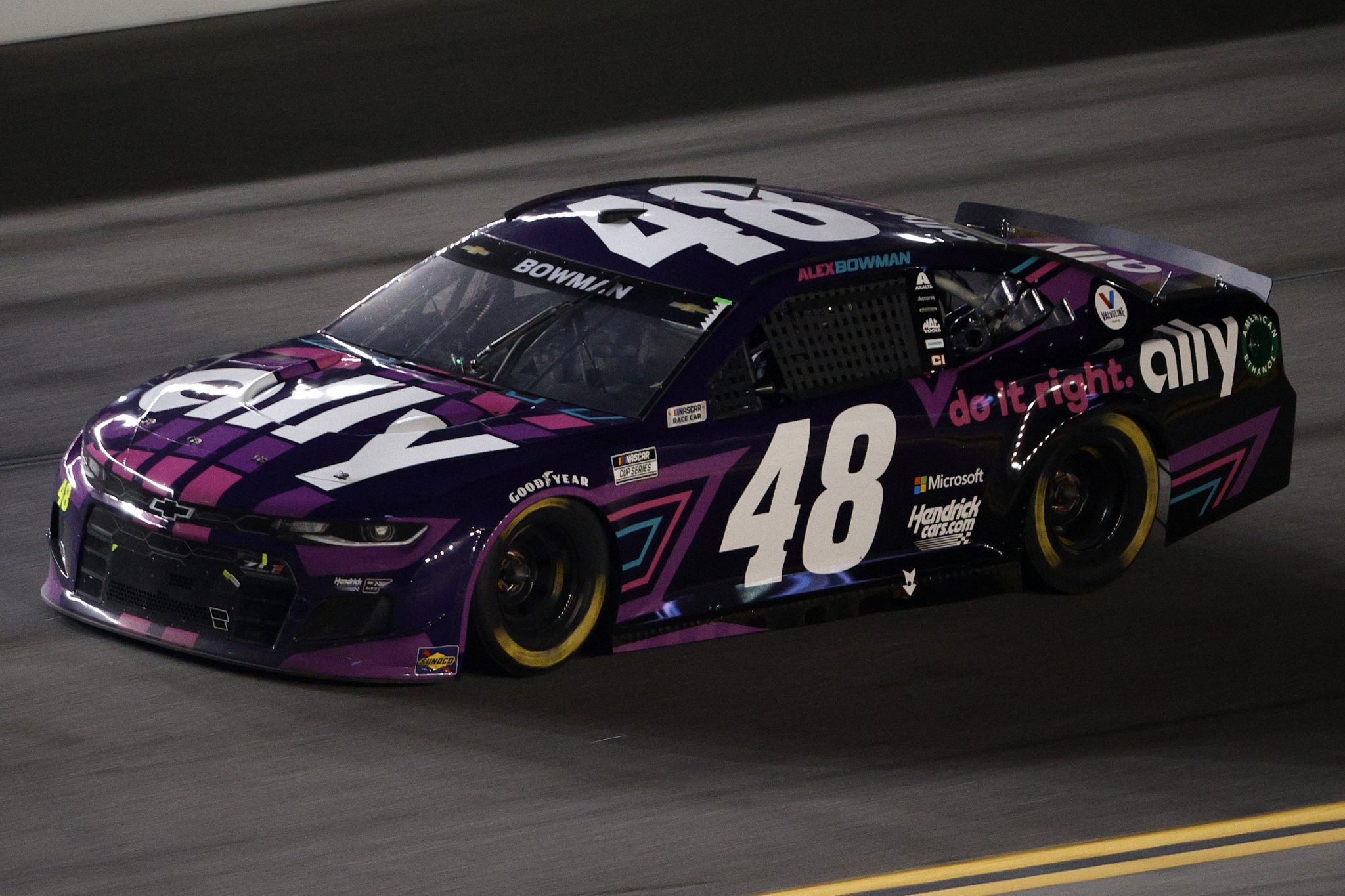 DAYTONA BEACH, FLORIDA - FEBRUARY 09: Alex Bowman, driver of the #48 Ally Chevrolet, drives during the NASCAR Cup Series Busch Clash at Daytona at Daytona International Speedway on February 09, 2021 in Daytona Beach, Florida. (Photo by Chris Graythen/Getty Images) | Getty Images