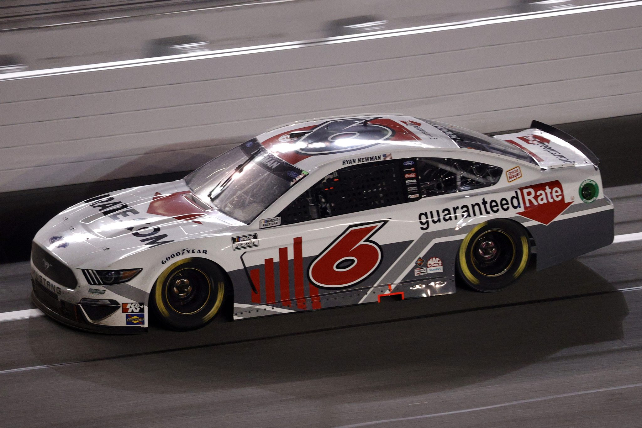 DAYTONA BEACH, FLORIDA - FEBRUARY 09: Ryan Newman, driver of the #6 Guaranteed Rate Ford, drives during the NASCAR Cup Series Busch Clash at Daytona at Daytona International Speedway on February 09, 2021 in Daytona Beach, Florida. (Photo by Chris Graythen/Getty Images) | Getty Images