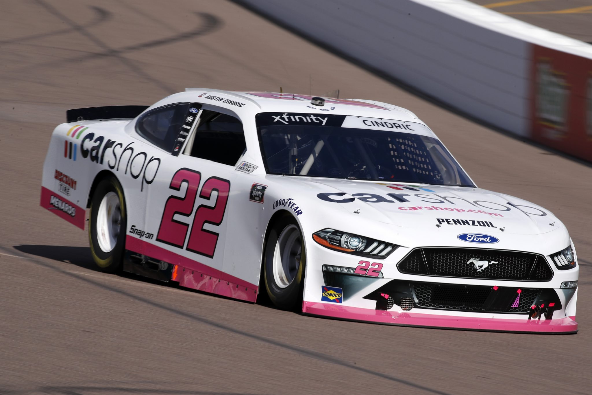AVONDALE, ARIZONA - MARCH 13: Austin Cindric, driver of the #22 Car Shop Ford, drives during the NASCAR Xfinity Series Call 811 Before You Dig 200 presented by Arizona 811 at Phoenix Raceway on March 13, 2021 in Avondale, Arizona. (Photo by Christian Petersen/Getty Images) | Getty Images