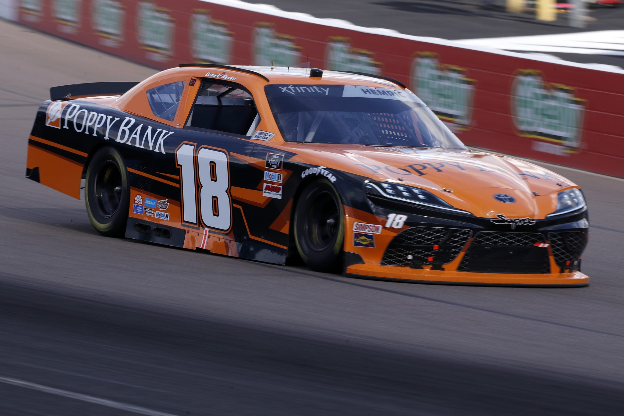 AVONDALE, ARIZONA - MARCH 13: Daniel Hemric, driver of the #18 Poppy Bank Toyota, drives the NASCAR Xfinity Series Call 811 Before You Dig 200 presented by Arizona 811 at Phoenix Raceway on March 13, 2021 in Avondale, Arizona. (Photo by Christian Petersen/Getty Images) | Getty Images