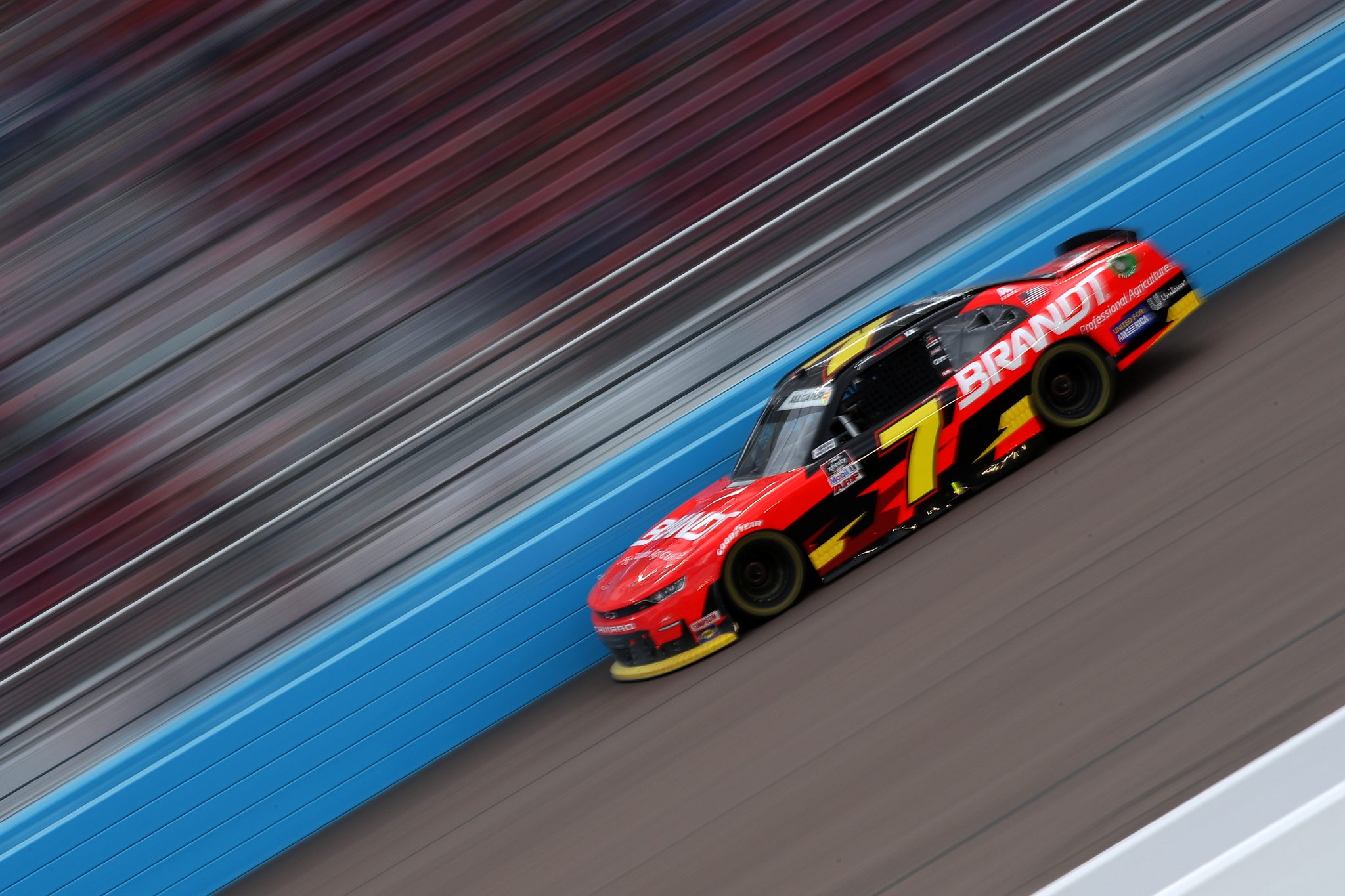 AVONDALE, ARIZONA - MARCH 13: Justin Allgaier, driver of the #7 BRANDT Chevrolet, drives during the NASCAR Xfinity Series Call 811 Before You Dig 200 presented by Arizona 811 at Phoenix Raceway on March 13, 2021 in Avondale, Arizona. (Photo by Sean Gardner/Getty Images) | Getty Images