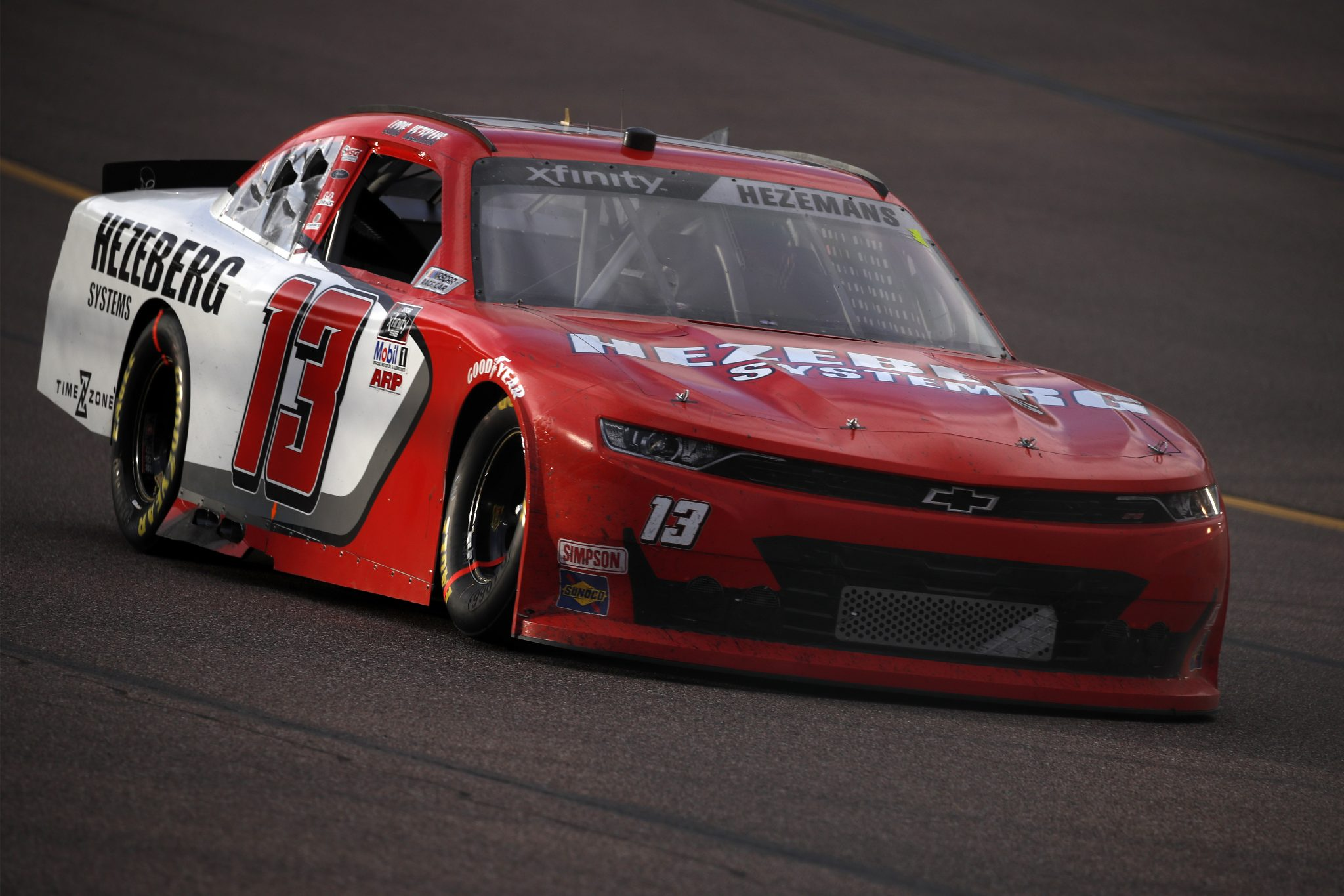 AVONDALE, ARIZONA - MARCH 13: Loris Hezemans, driver of the #13 Hezeberg Systems Chevrolet, drives during the NASCAR Xfinity Series Call 811 Before You Dig 200 presented by Arizona 811 at Phoenix Raceway on March 13, 2021 in Avondale, Arizona. (Photo by Christian Petersen/Getty Images) | Getty Images