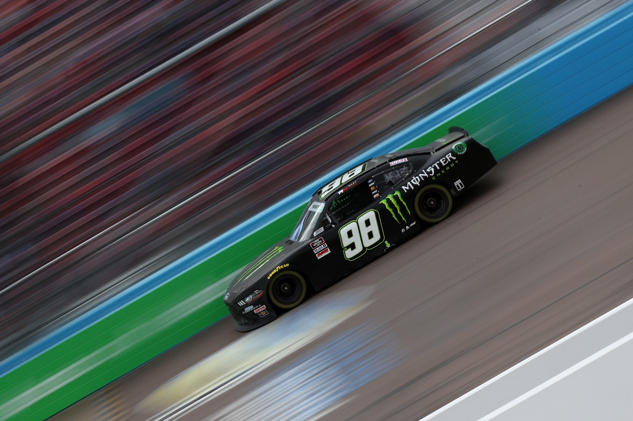 AVONDALE, ARIZONA - MARCH 13: Riley Herbst, driver of the #98 Monster Energy Ford, drives during the NASCAR Xfinity Series Call 811 Before You Dig 200 presented by Arizona 811 at Phoenix Raceway on March 13, 2021 in Avondale, Arizona. (Photo by Sean Gardner/Getty Images)   Getty Images