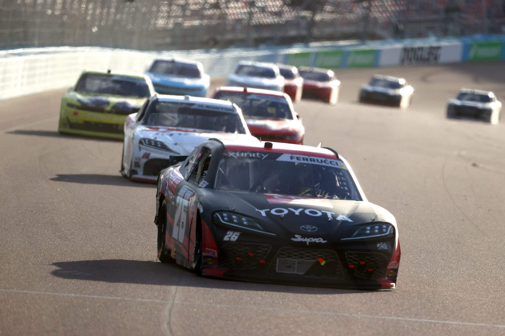 AVONDALE, ARIZONA - MARCH 13: Santino Ferrucci, driver of the #26 Toyota Racing Toyota, drives during the NASCAR Xfinity Series Call 811 Before You Dig 200 presented by Arizona 811 at Phoenix Raceway on March 13, 2021 in Avondale, Arizona. (Photo by Abbie Parr/Getty Images) | Getty Images