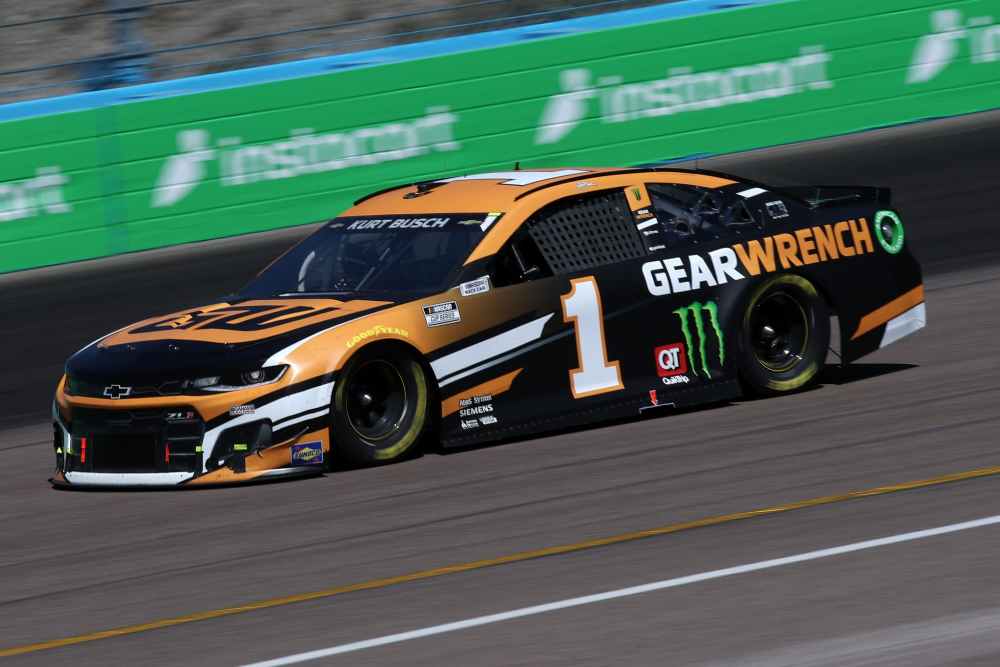 AVONDALE, ARIZONA - MARCH 14: Kurt Busch, driver of the #1 Gearwrench Chevrolet, drives during the NASCAR Cup Series Instacart 500 at Phoenix Raceway on March 14, 2021 in Avondale, Arizona. (Photo by Sean Gardner/Getty Images) | Getty Images